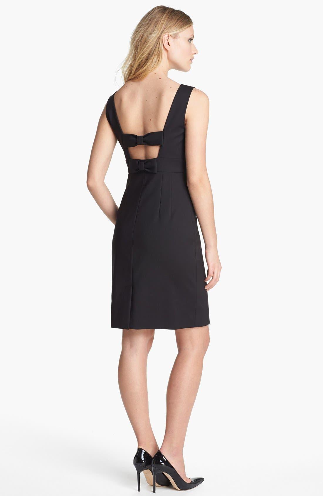 KATE SPADE NEW YORK,                             'joyann' sleeveless dress,                             Alternate thumbnail 3, color,                             001