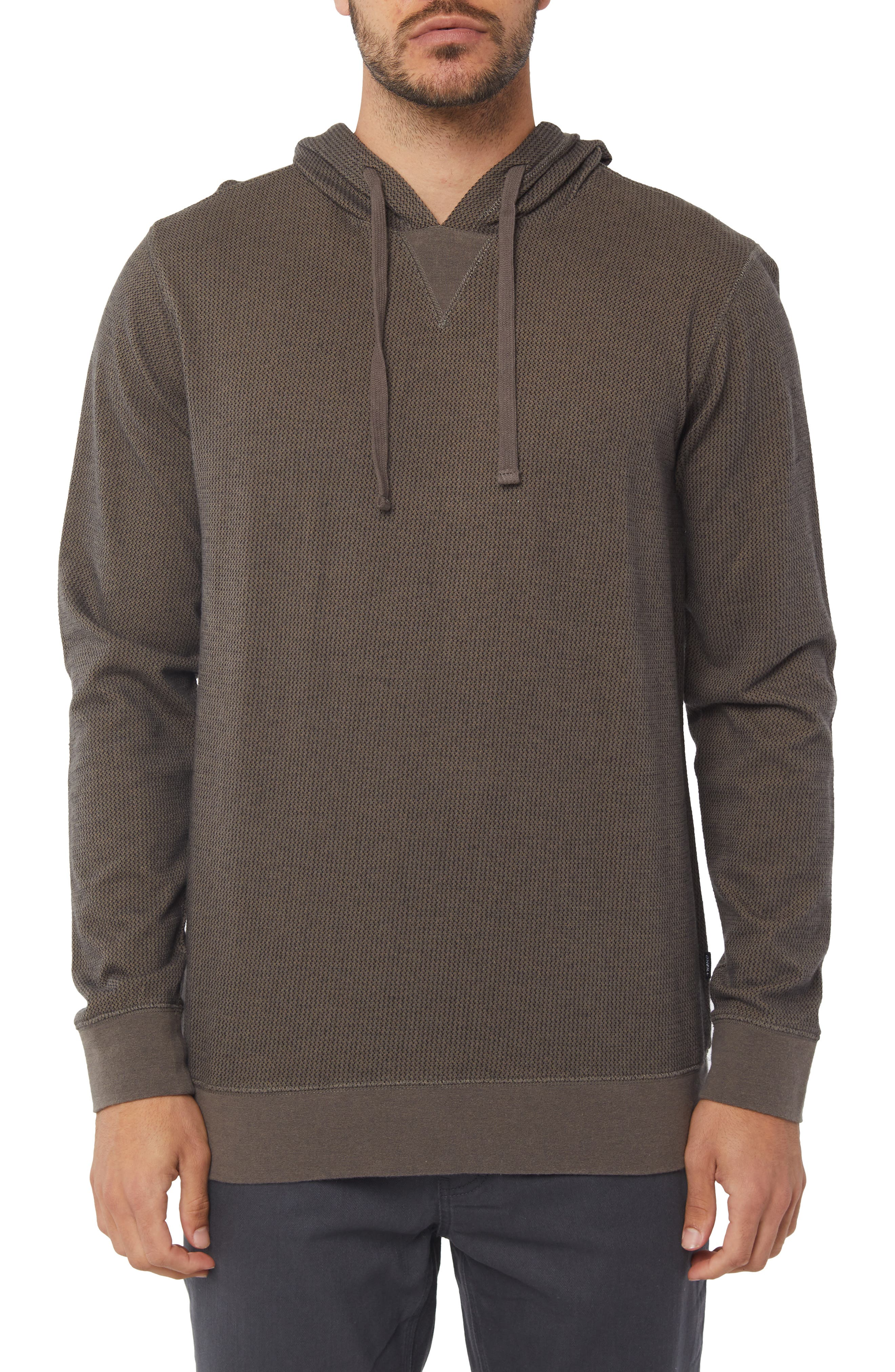 Hardy Thermal Pullover Hoodie,                         Main,                         color, DARK ARMY
