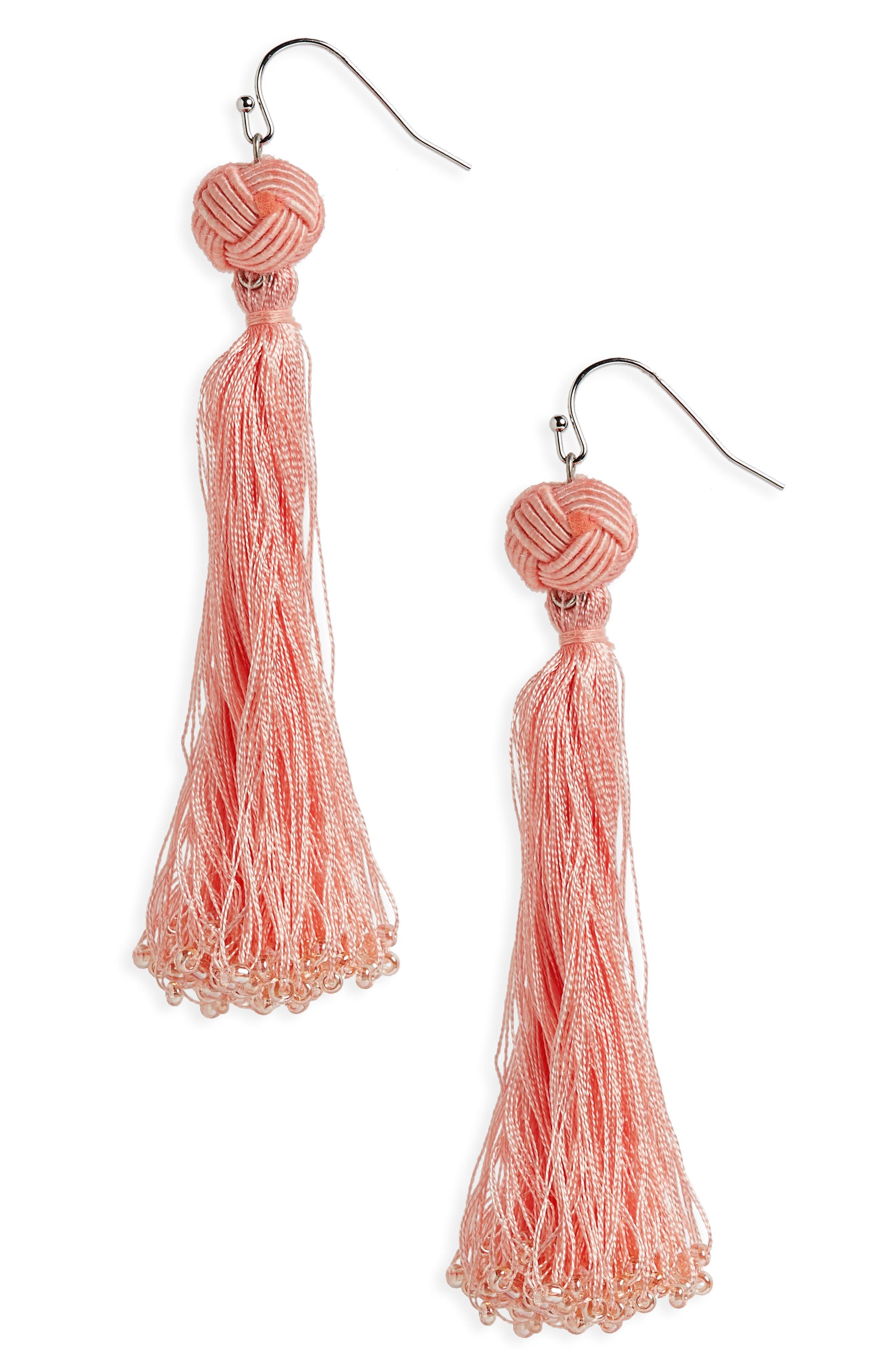 Tassel Earrings,                         Main,                         color,