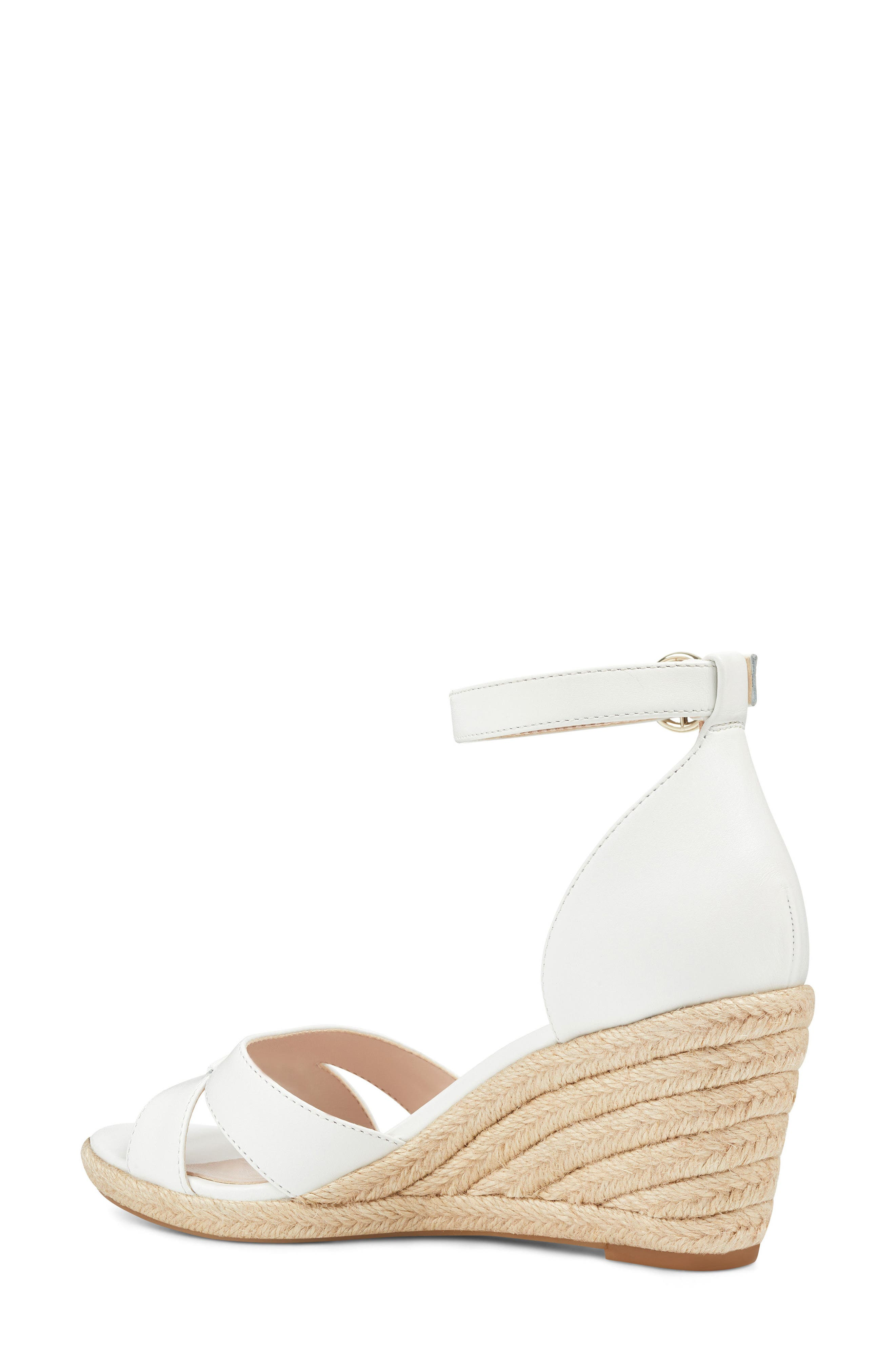 Jeranna Espadrille Wedge Sandal,                             Alternate thumbnail 2, color,                             WHITE LEATHER