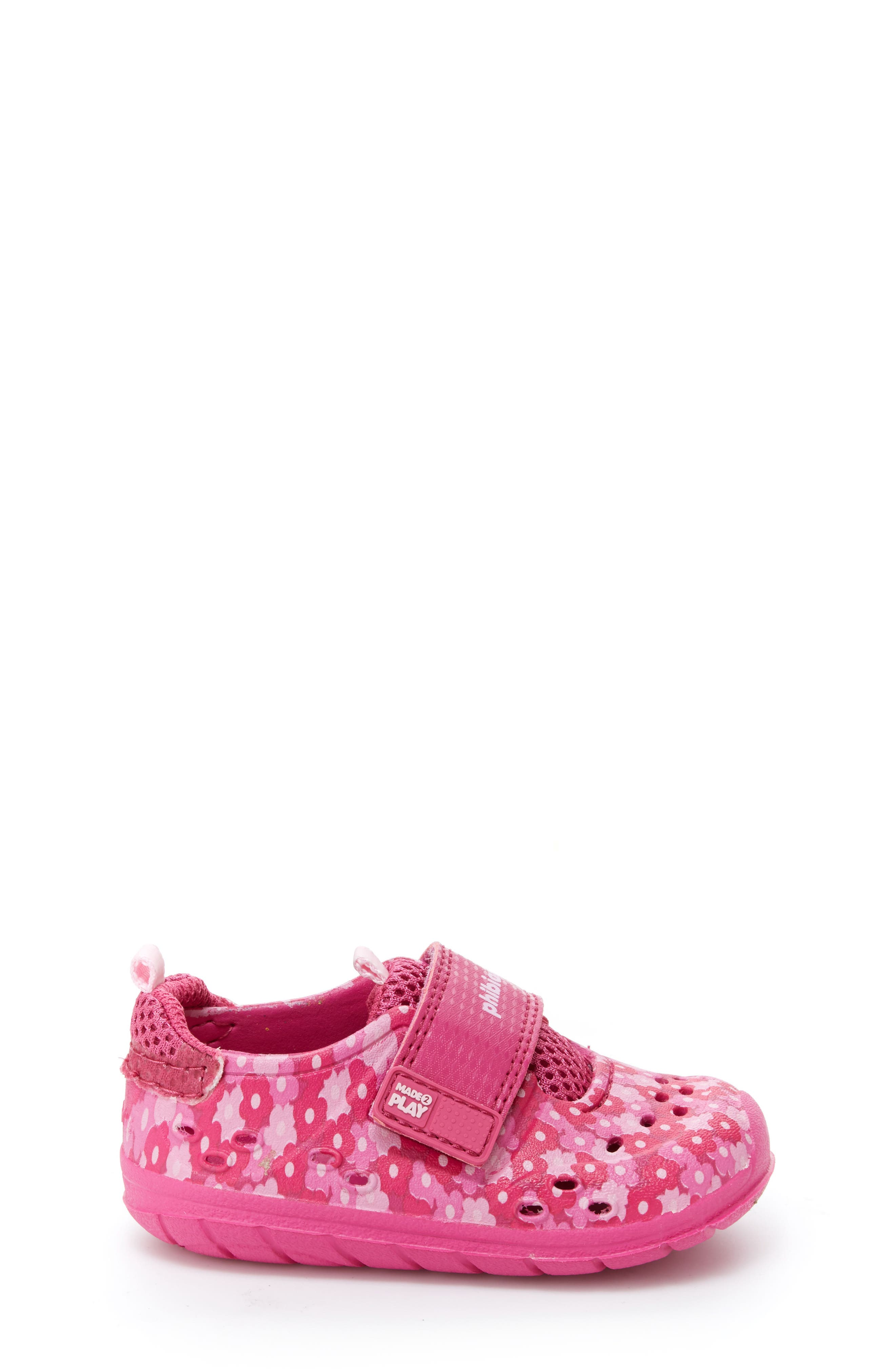 STRIDE RITE,                             Made2Play<sup>®</sup> Phibian Sneaker,                             Alternate thumbnail 3, color,                             PINK FLORAL EVA