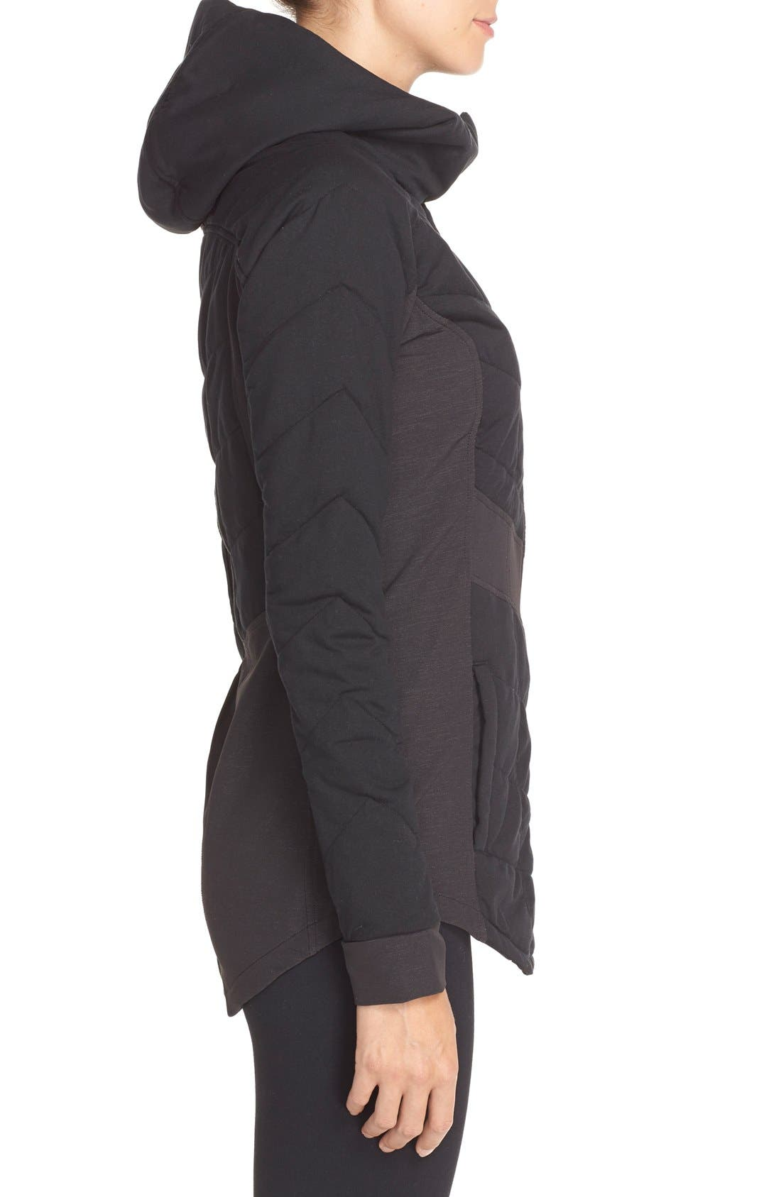 THE NORTH FACE,                             'Pseudio' Hooded Jacket,                             Alternate thumbnail 4, color,                             001