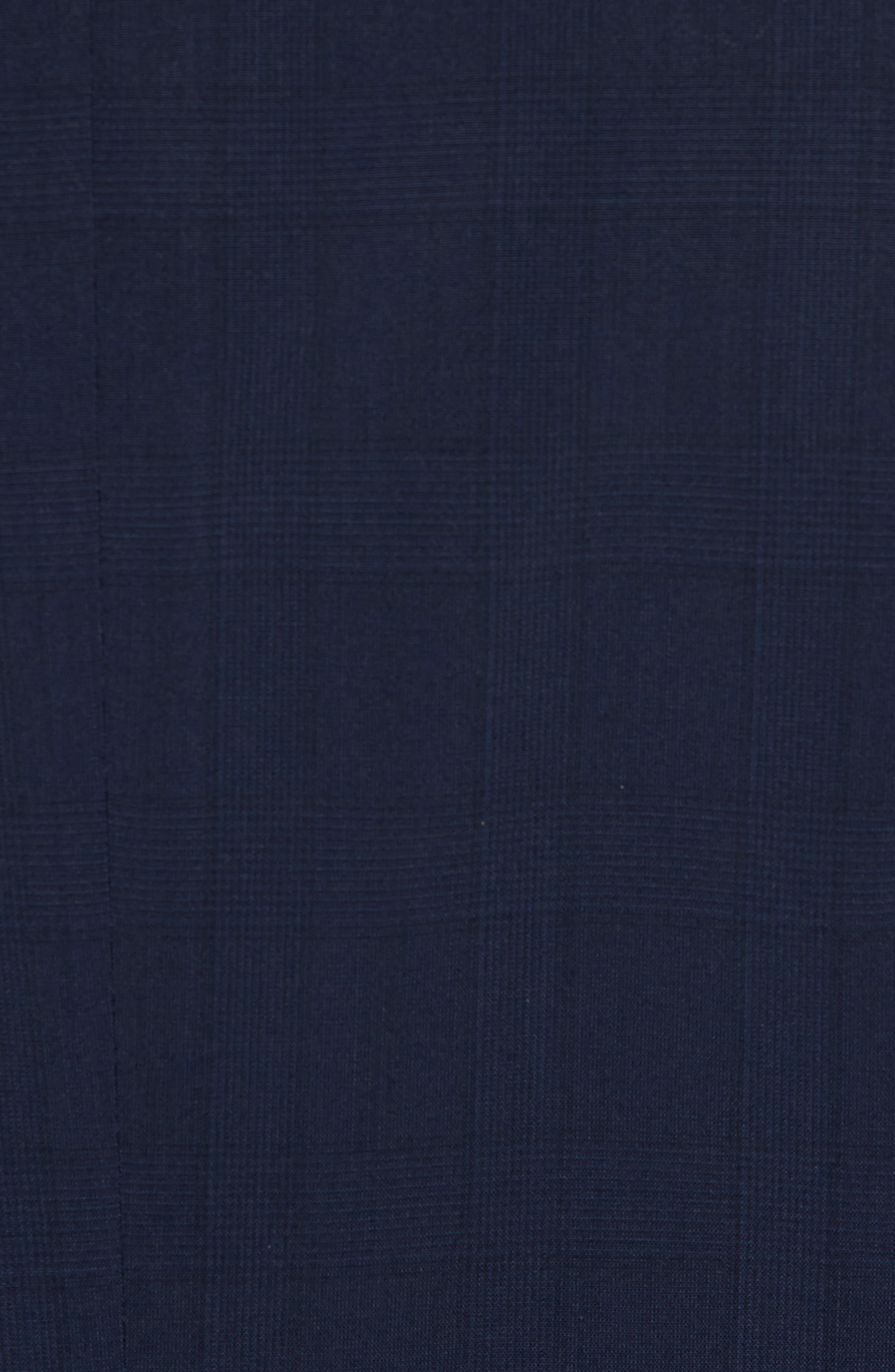 New York Classic Fit Plaid Wool Suit,                             Alternate thumbnail 7, color,                             400