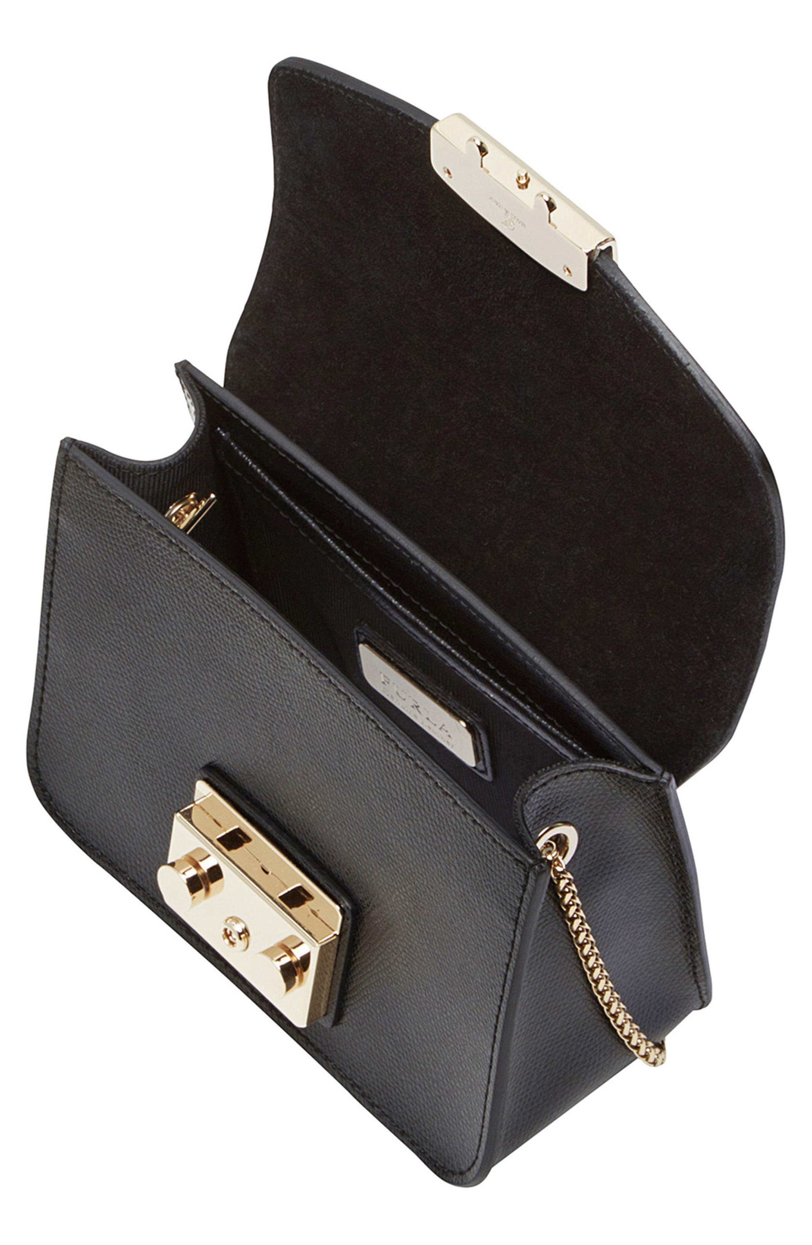Mini Metropolis Leather Crossbody Bag,                             Alternate thumbnail 4, color,                             004