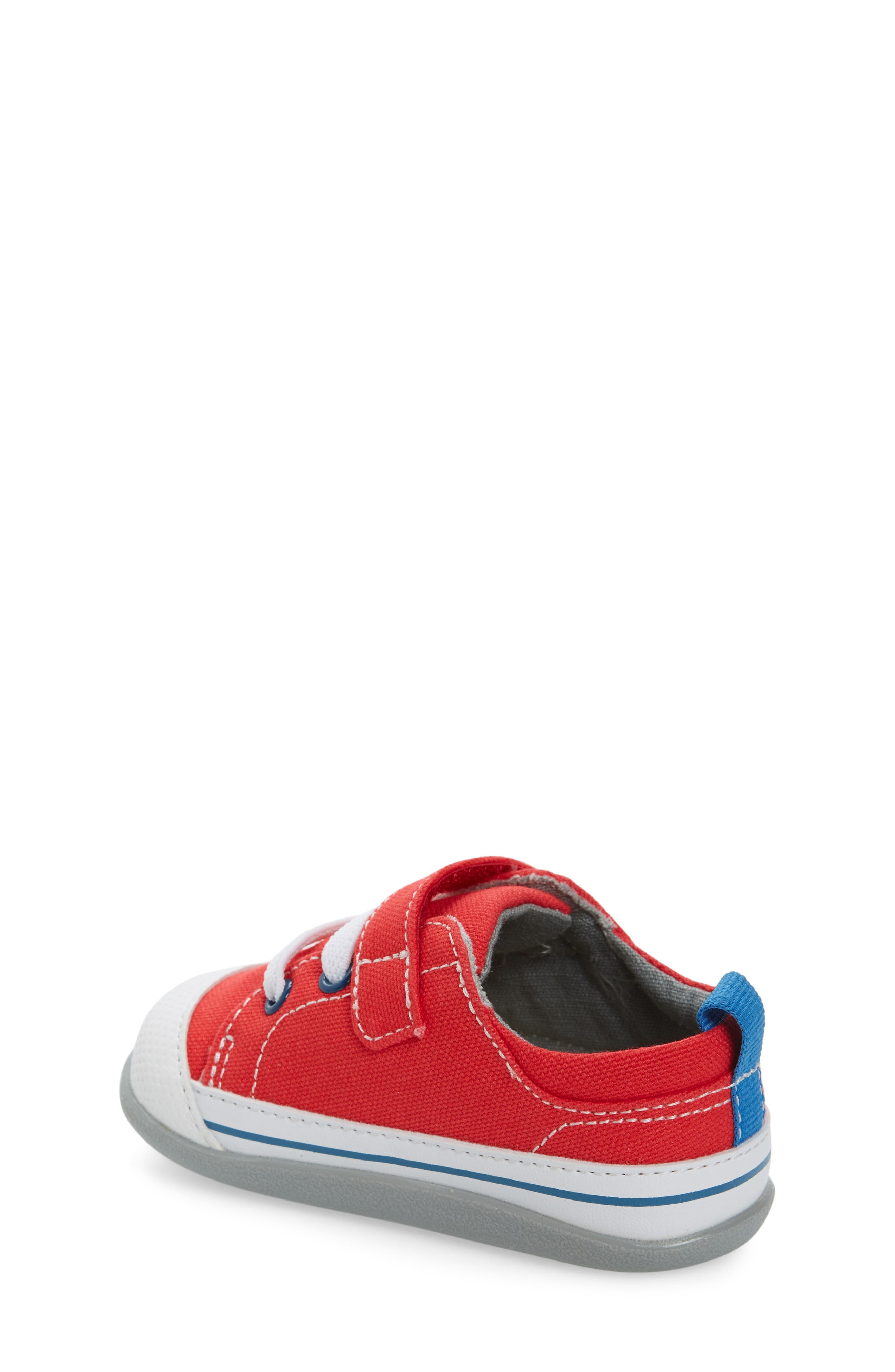 Stevie II Sneaker,                             Alternate thumbnail 2, color,                             RED CANVAS
