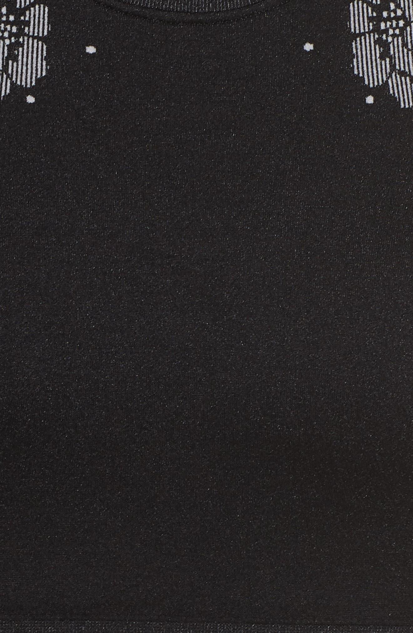 longline sports bra,                             Alternate thumbnail 5, color,                             BLACK