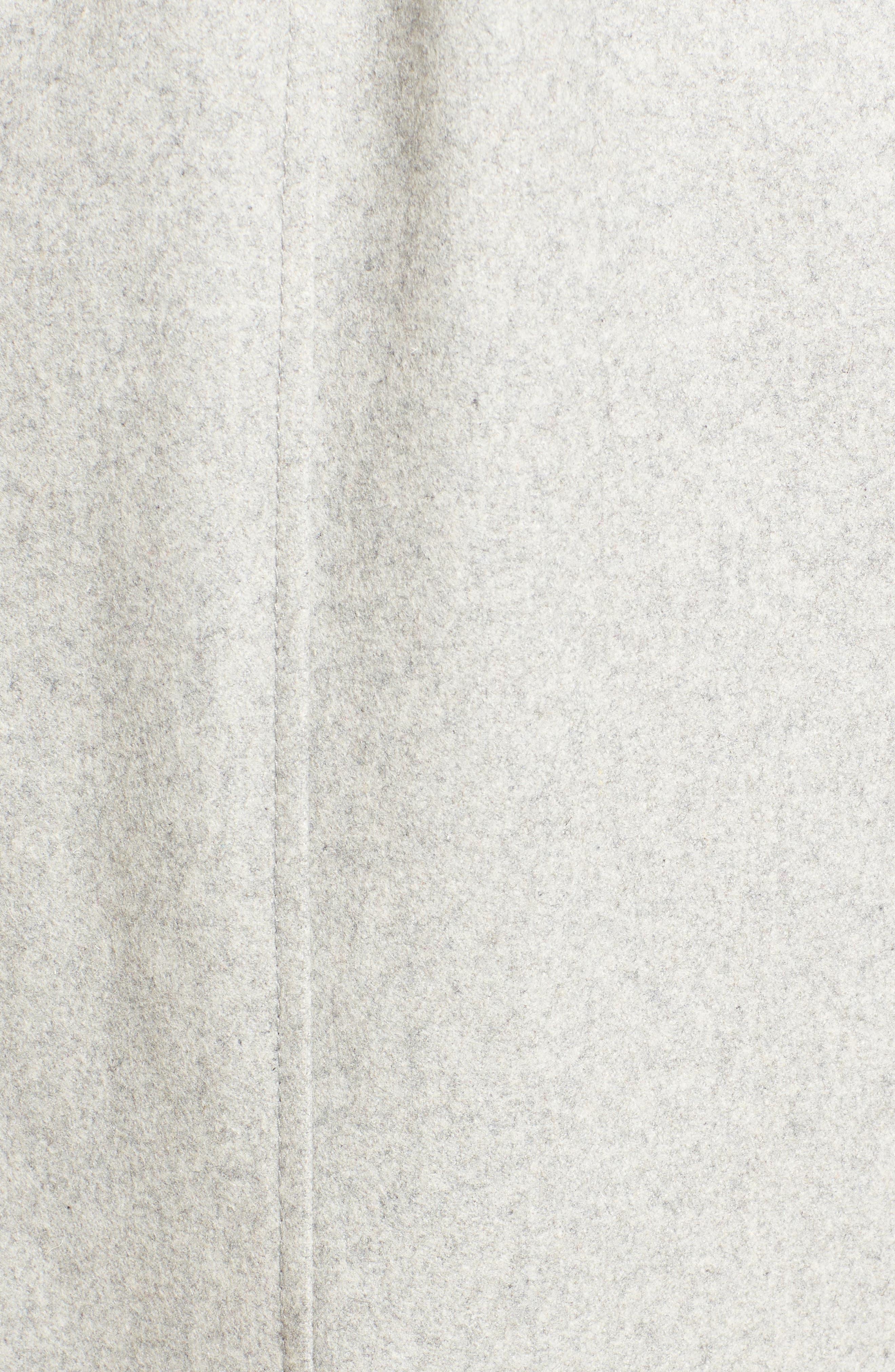 Fencer Melton Wool Maxi Coat,                             Alternate thumbnail 6, color,                             GLACIER