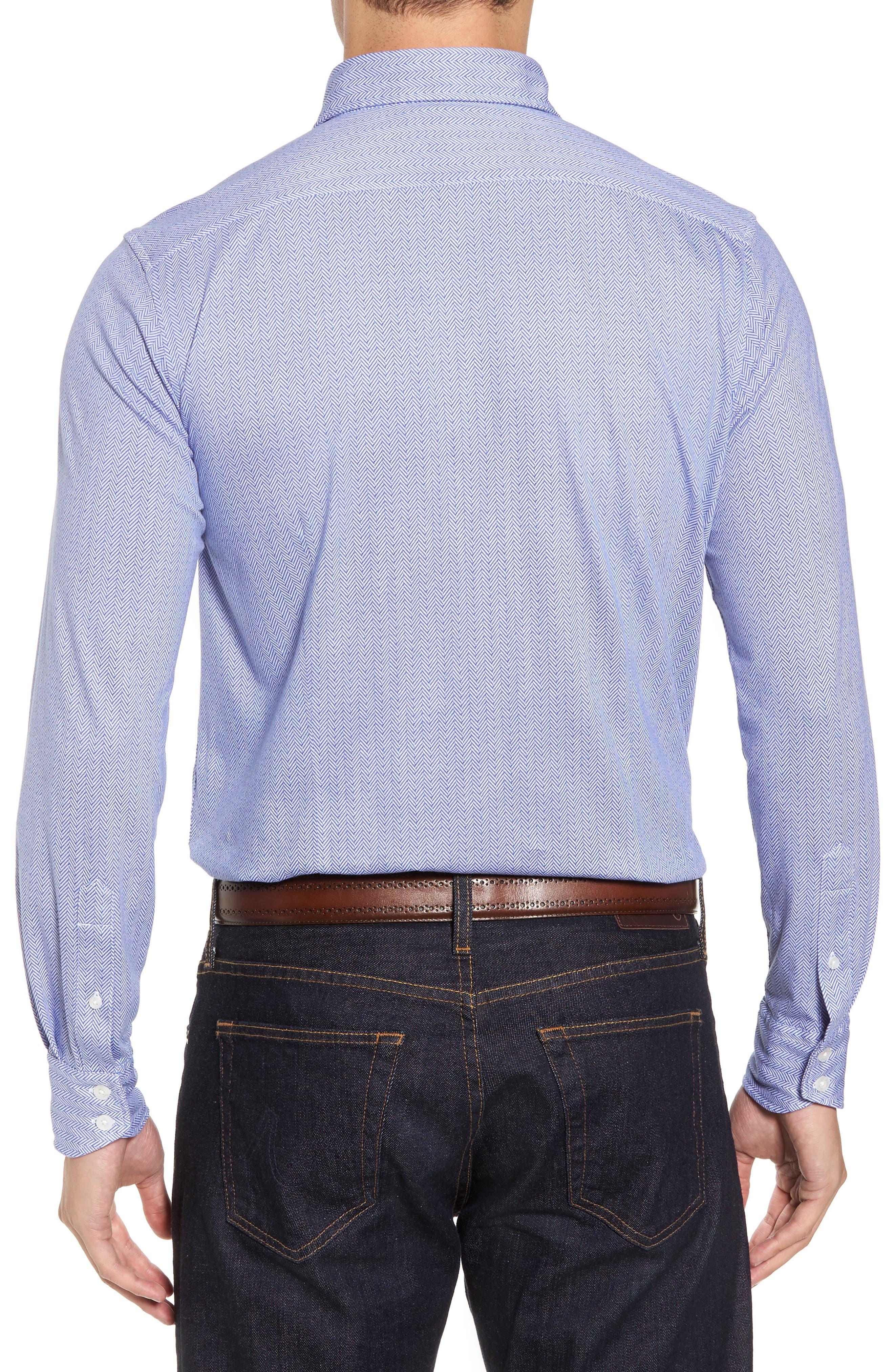 Herringbone Knit Sport Shirt,                             Alternate thumbnail 2, color,                             400