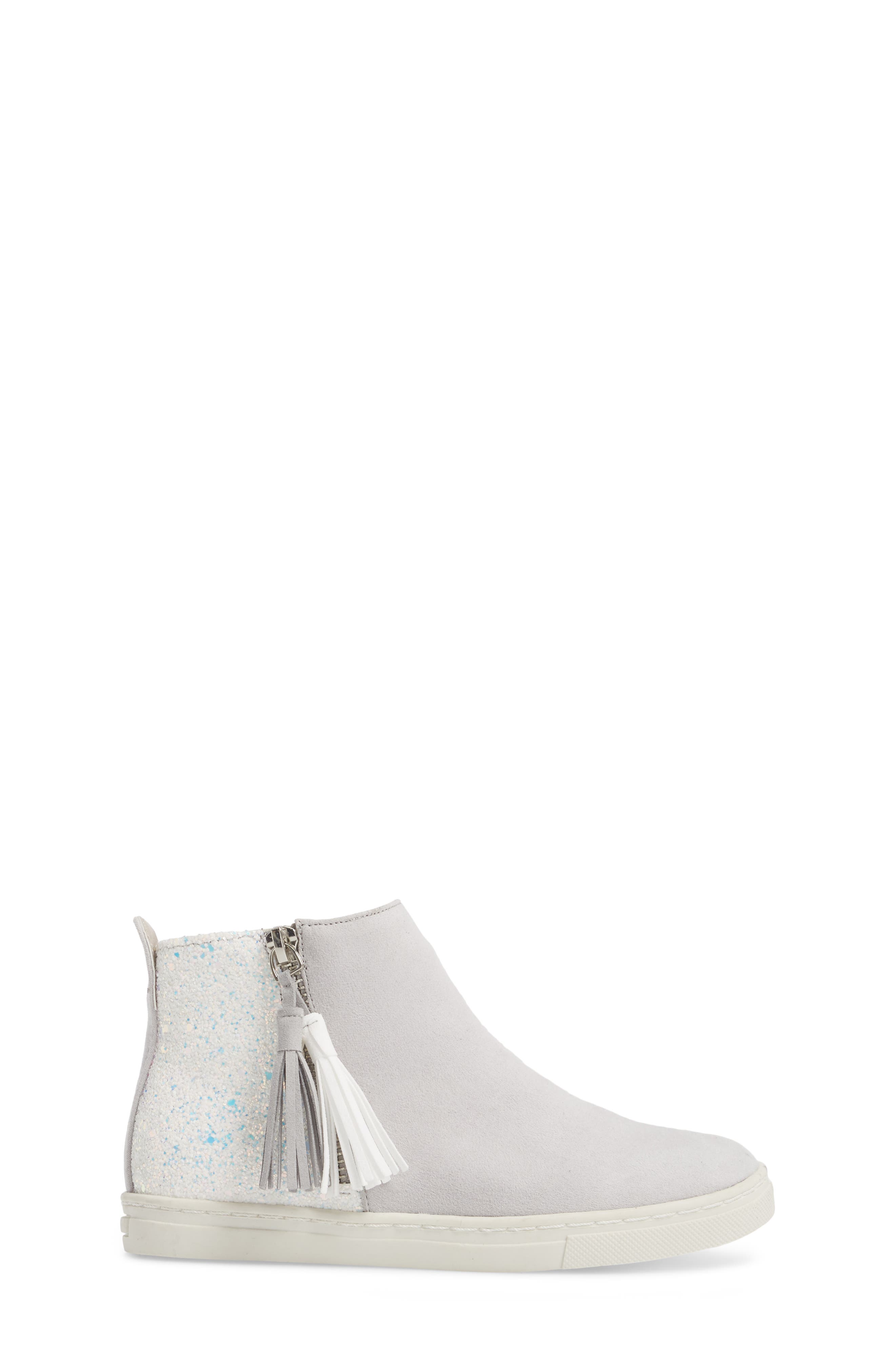 Zalix Glitter Sneaker,                             Alternate thumbnail 3, color,                             LIGHT GREY
