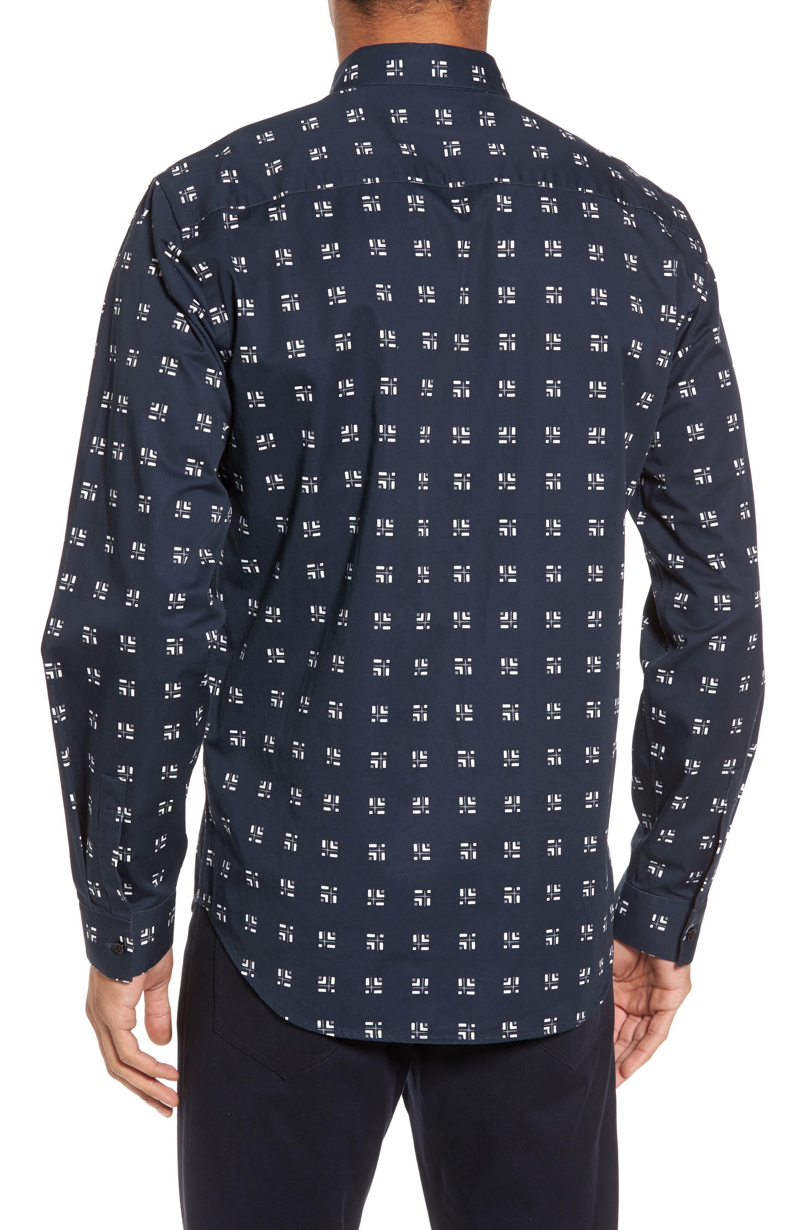 Levy Cross Box Regular Fit Sport Shirt,                             Alternate thumbnail 3, color,