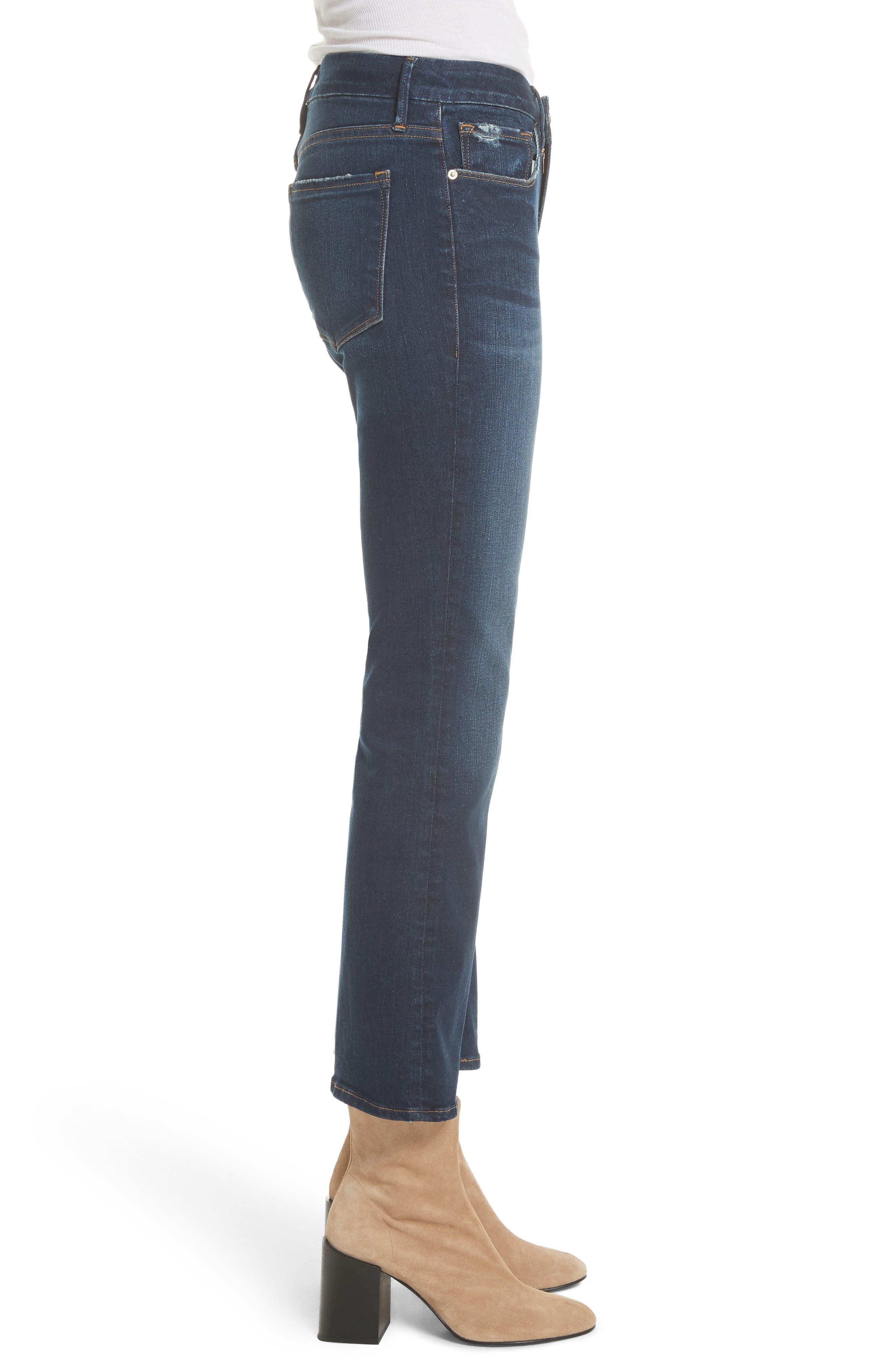 Le Crop Mini Boot Jeans,                             Alternate thumbnail 3, color,                             CREEK HILL