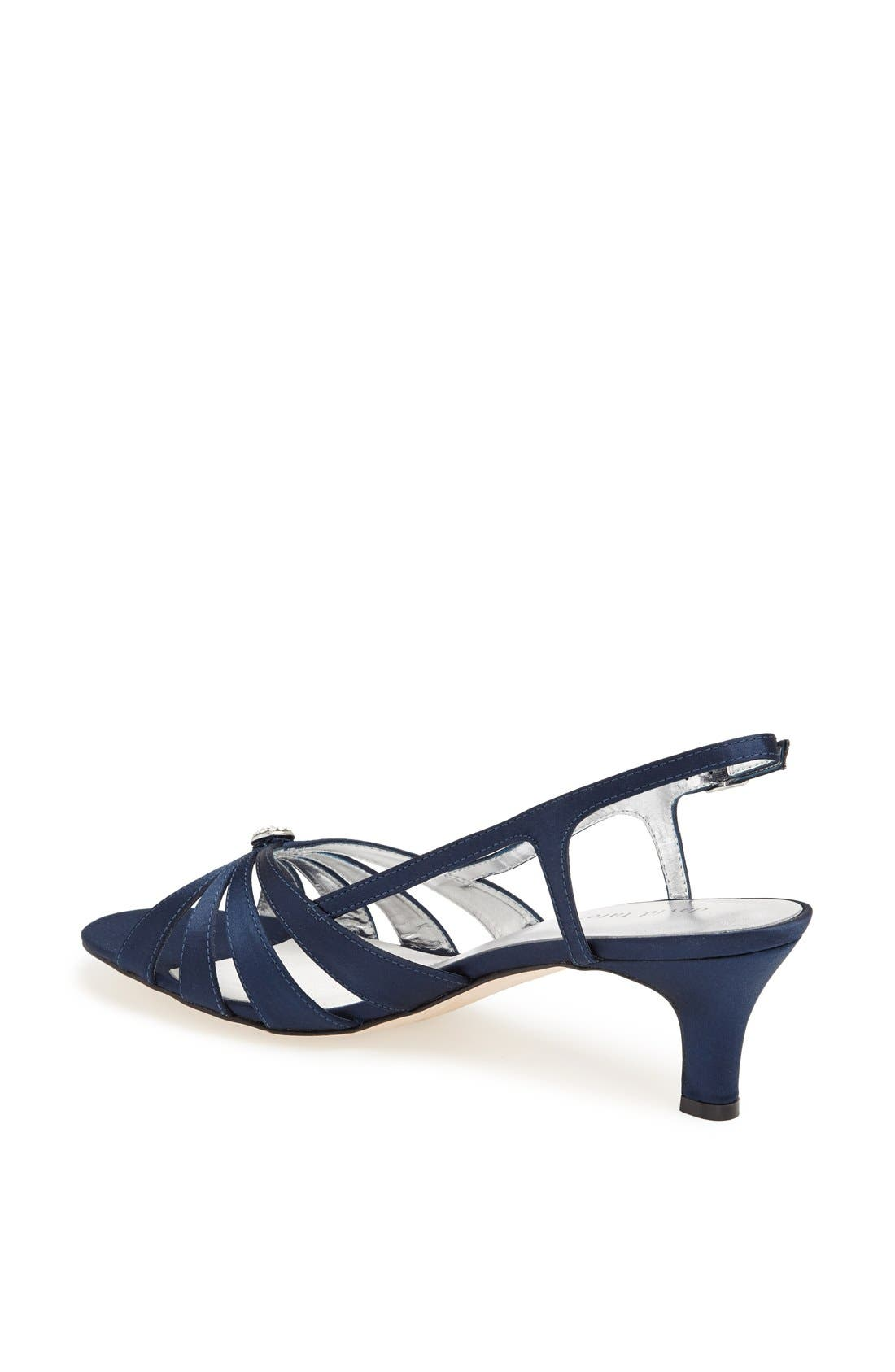 'Rosette' Sandal,                             Alternate thumbnail 2, color,                             NAVY