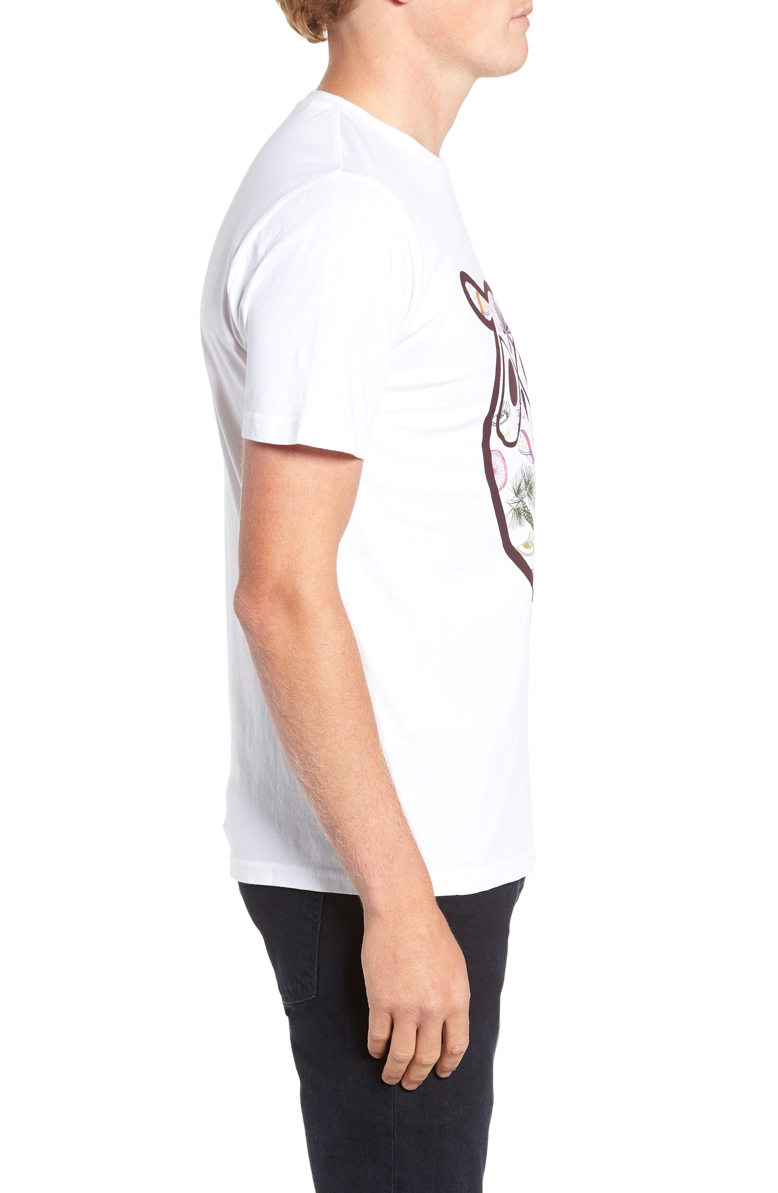 Owl Concept T-Shirt,                             Alternate thumbnail 3, color,                             WHITE