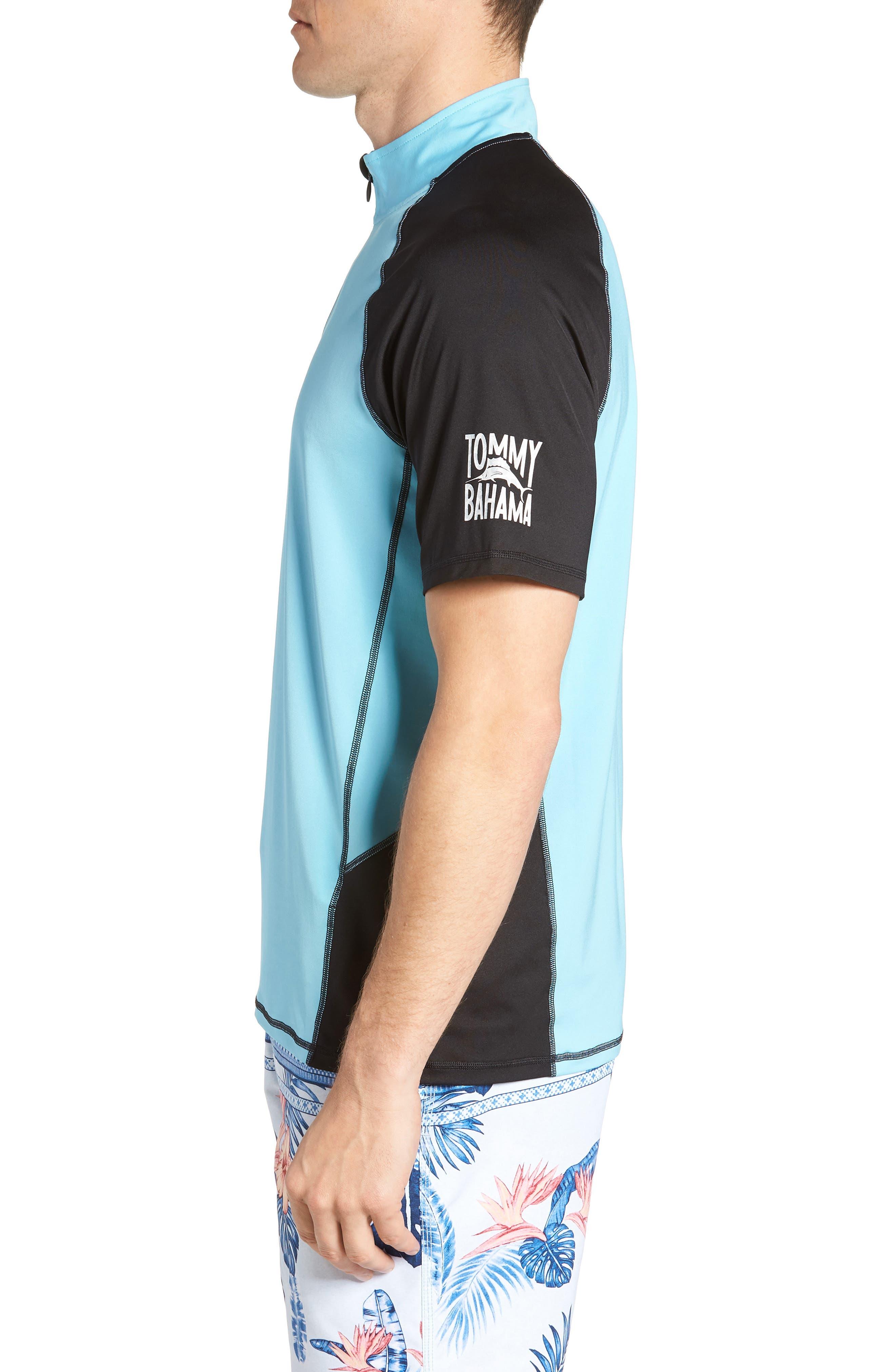 IslandActive<sup>™</sup> Colorblock Beach Pro Rashguard T-Shirt,                             Alternate thumbnail 3, color,                             400