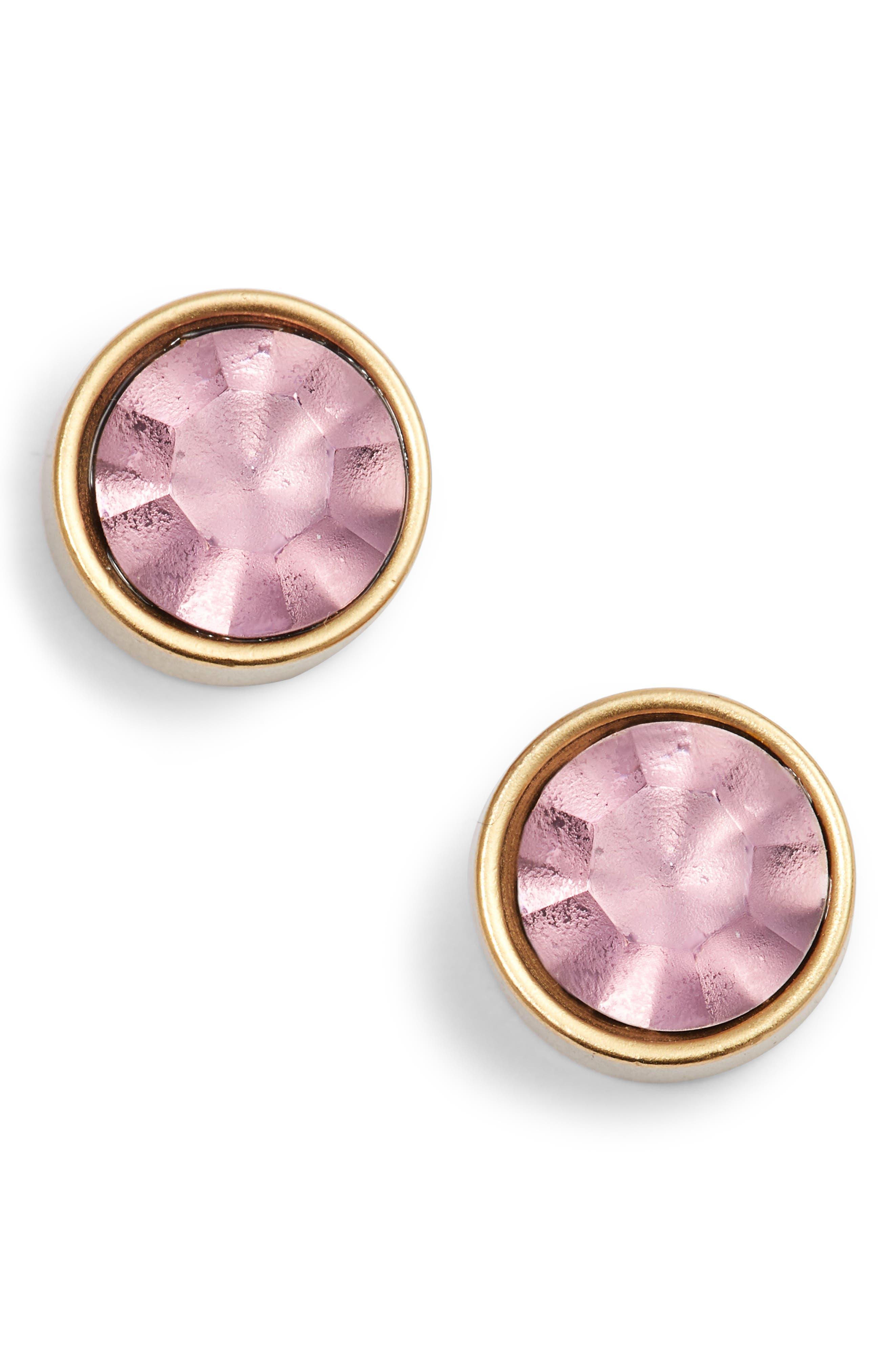 Bezel Set Stud Earrings,                             Main thumbnail 9, color,