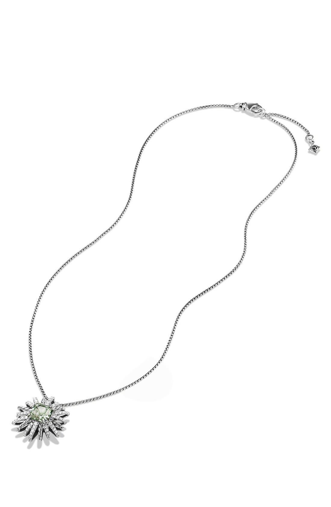 'Starburst' Pendant Necklace,                             Alternate thumbnail 4, color,                             PRASIOLITE