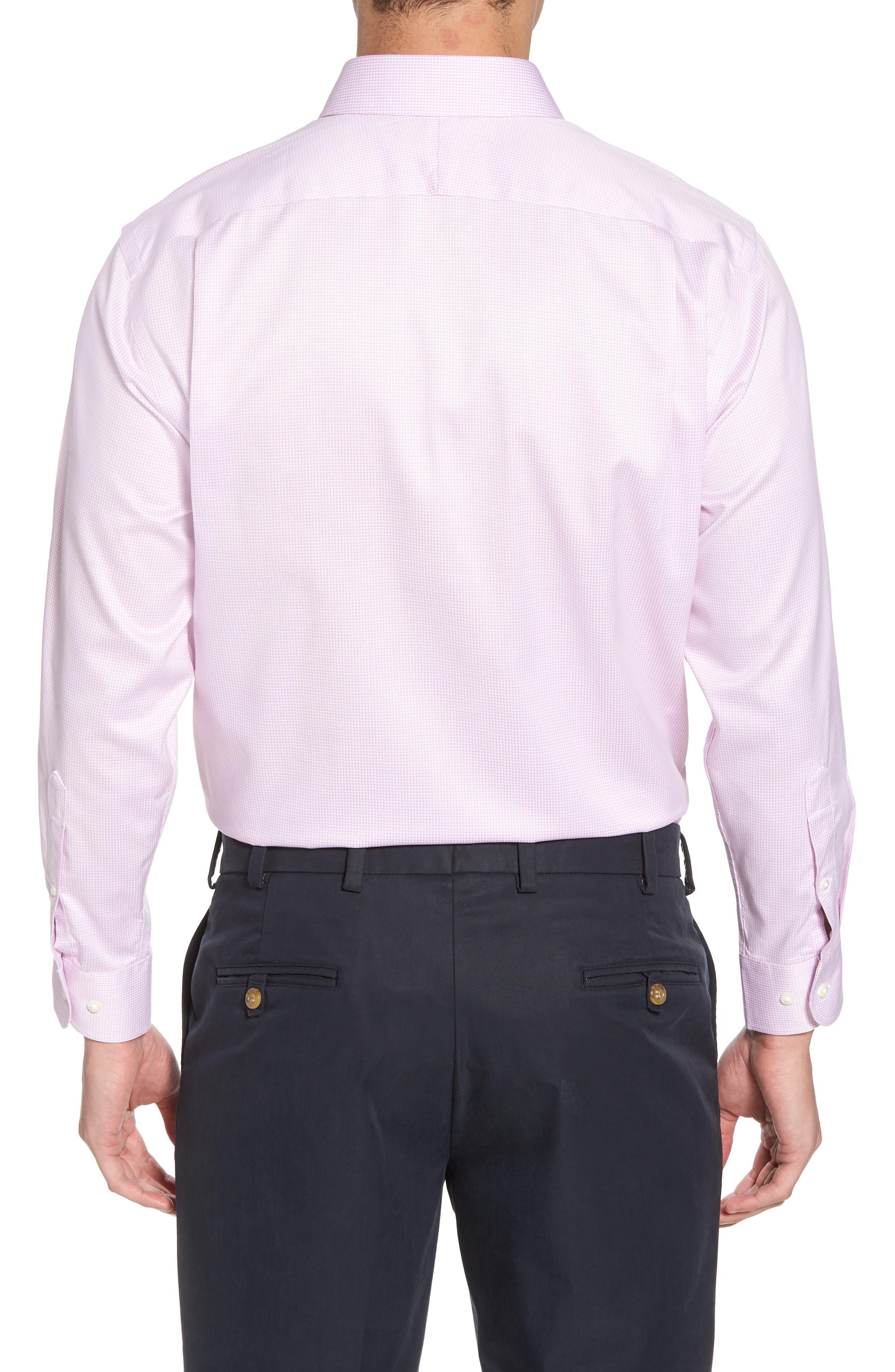 Smartcare<sup>™</sup> Traditional Fit Stripe Dress Shirt,                             Alternate thumbnail 9, color,