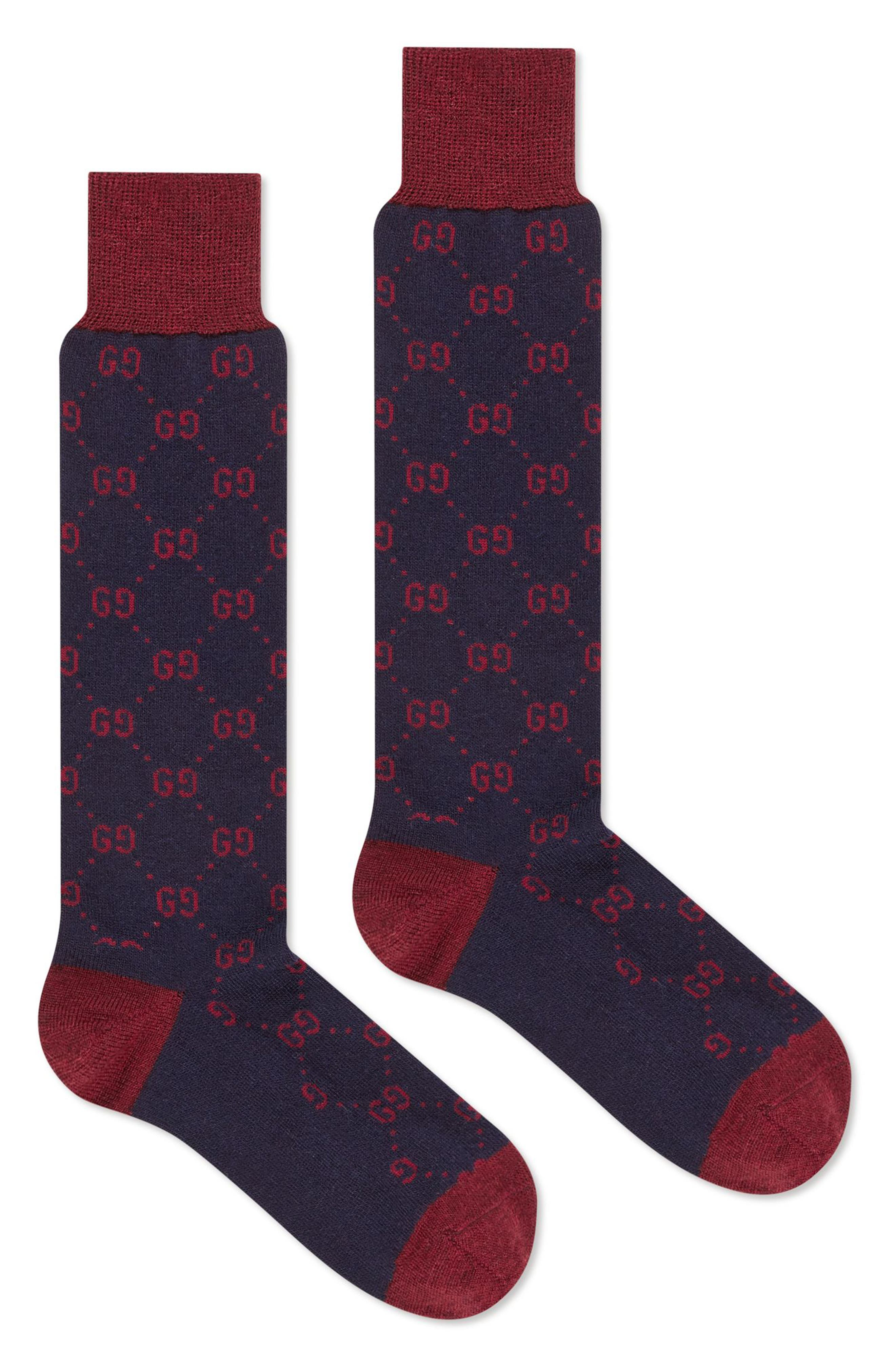 GG Socks,                             Alternate thumbnail 2, color,                             BLUE/ RED