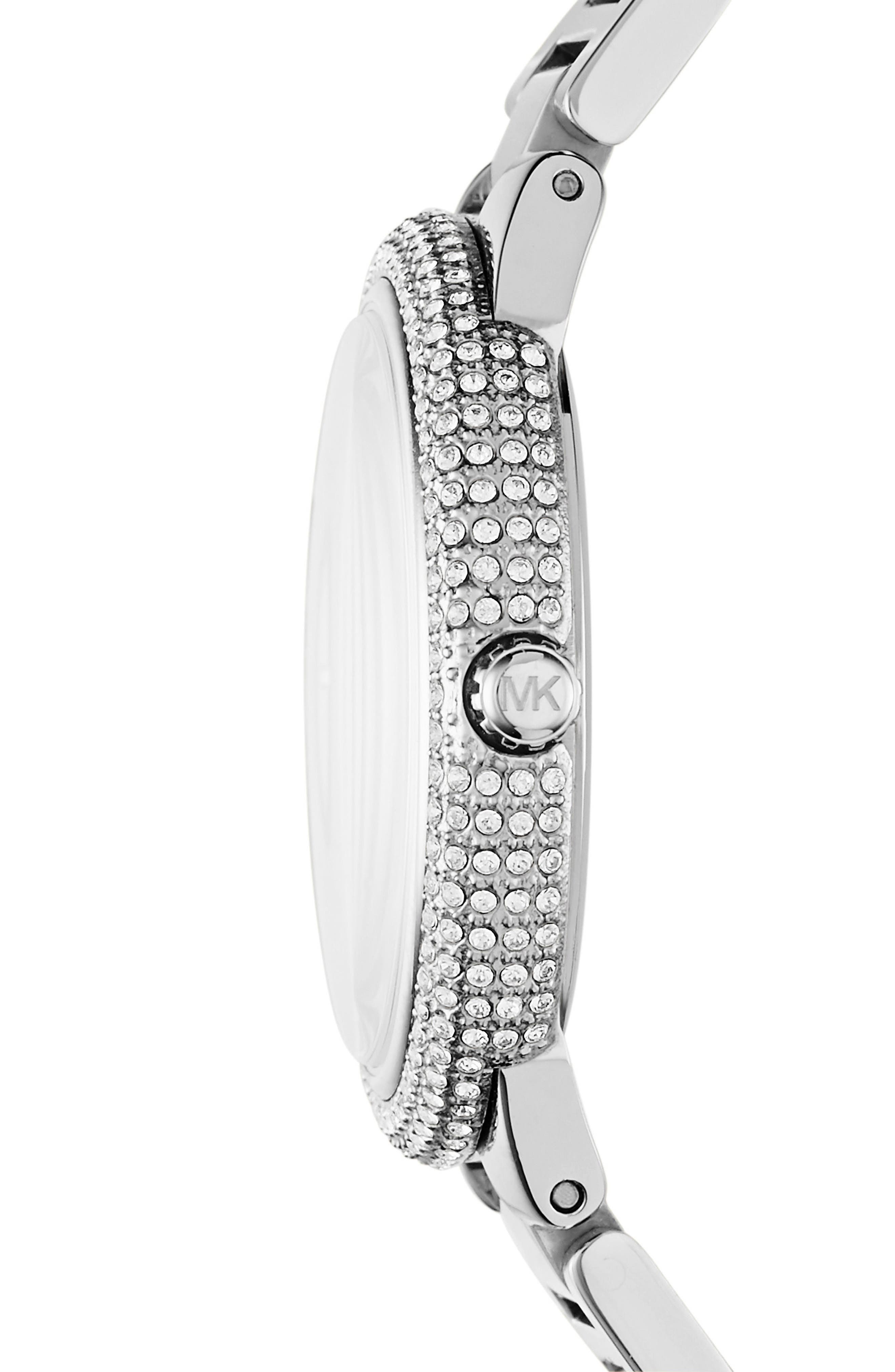 Taryn Crystal Bracelet Watch, 40mm,                             Alternate thumbnail 2, color,                             040