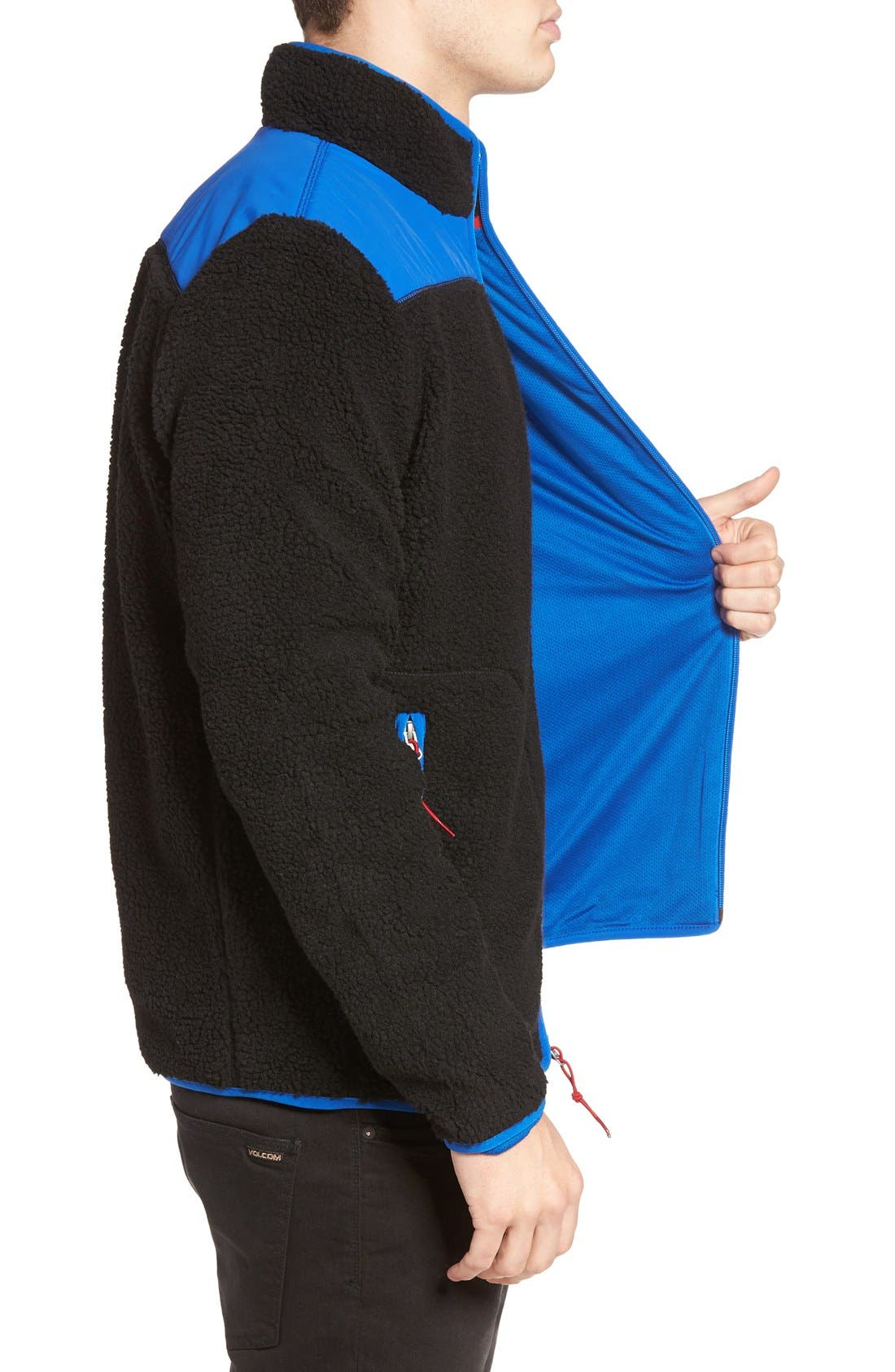 Mattawa Zip Fleece Jacket,                             Alternate thumbnail 4, color,                             001