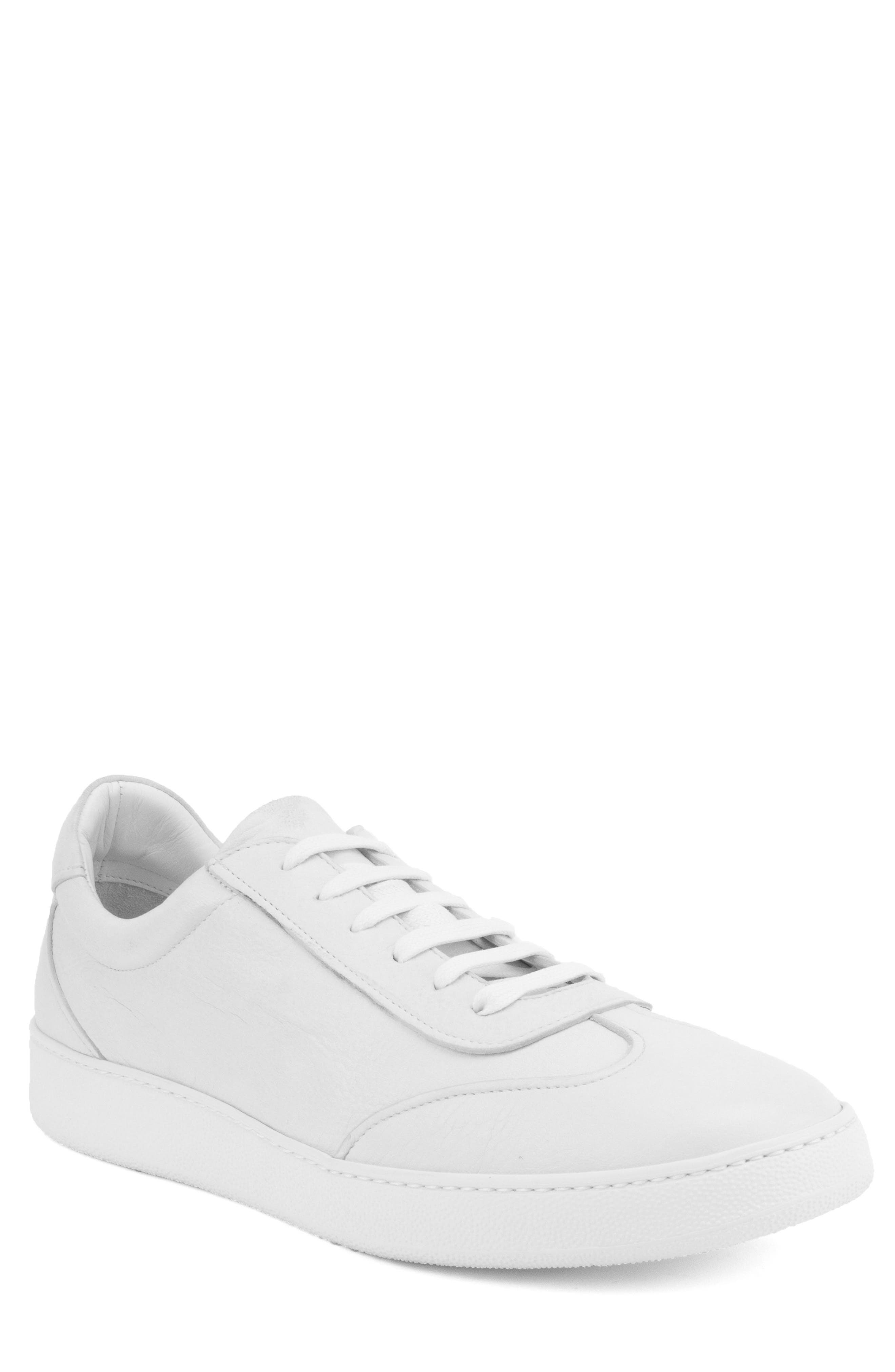 Tristan Sneaker,                             Main thumbnail 1, color,                             WHITE LEATHER