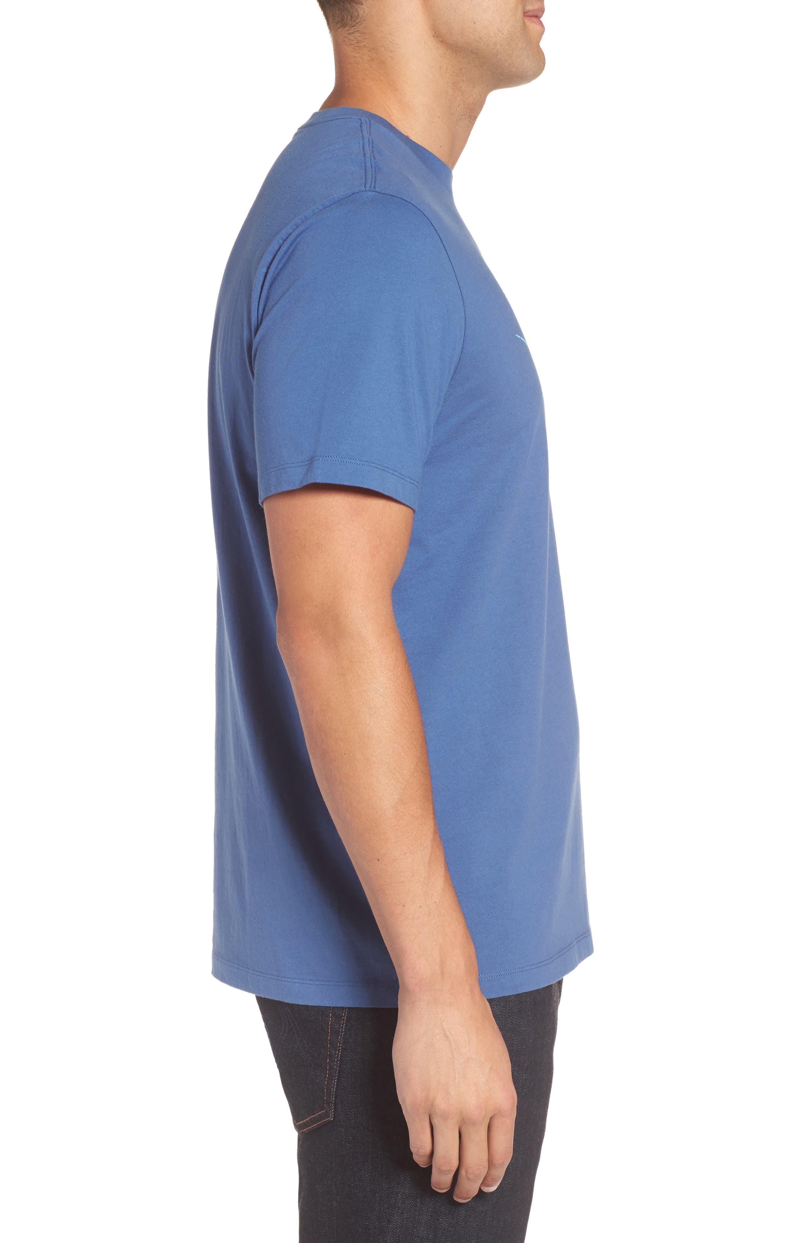 Sailfish Whale Line Graphic T-Shirt,                             Alternate thumbnail 3, color,                             461