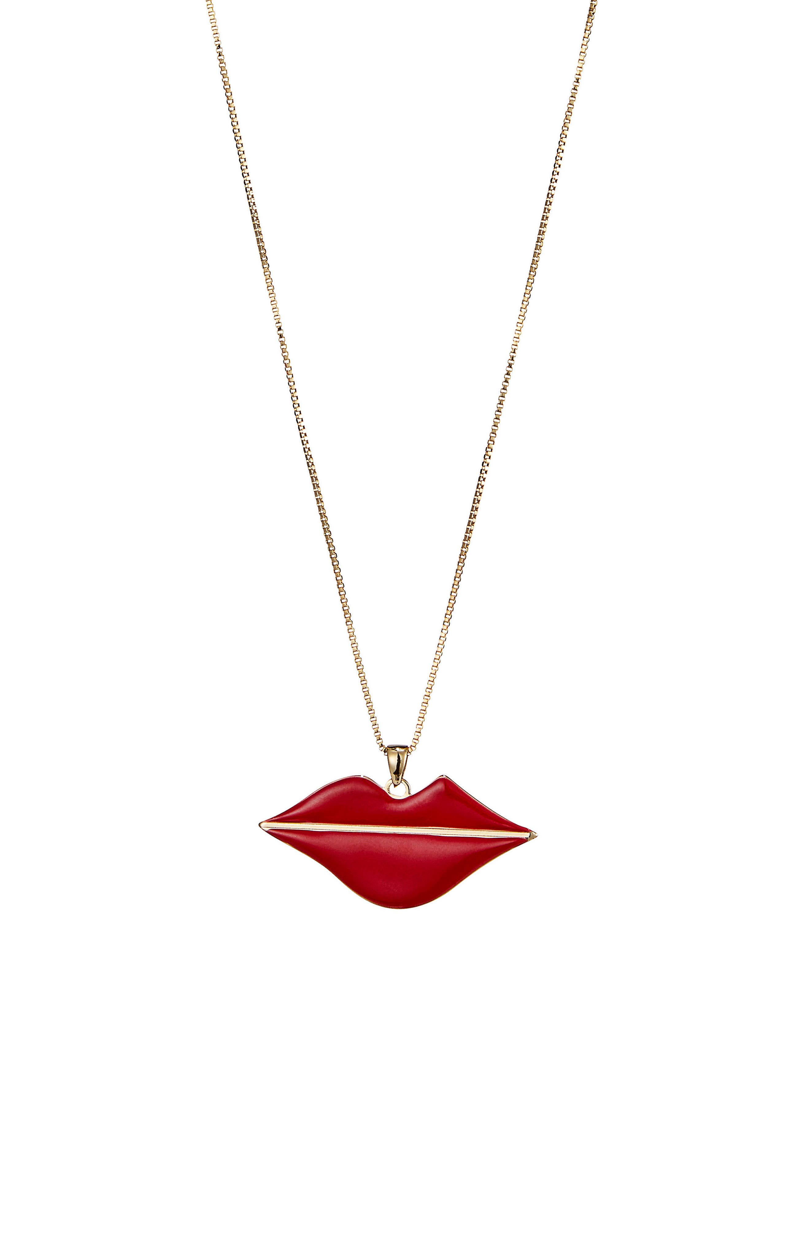 La Bouche Pendant Necklace,                         Main,                         color, 600