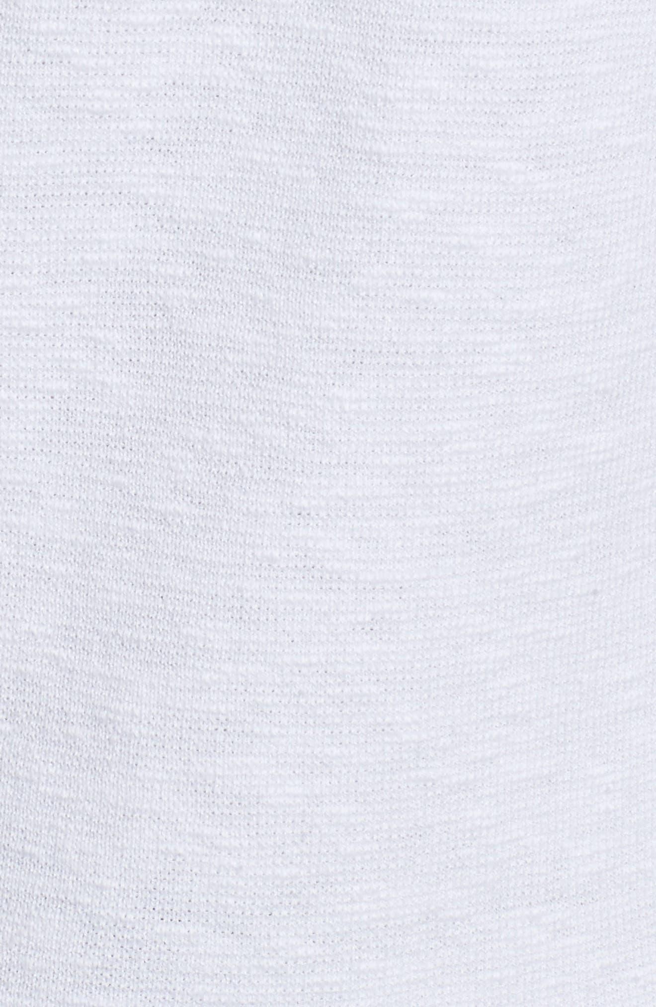 Organic Linen & Cotton Bomber Cardigan,                             Alternate thumbnail 5, color,                             100