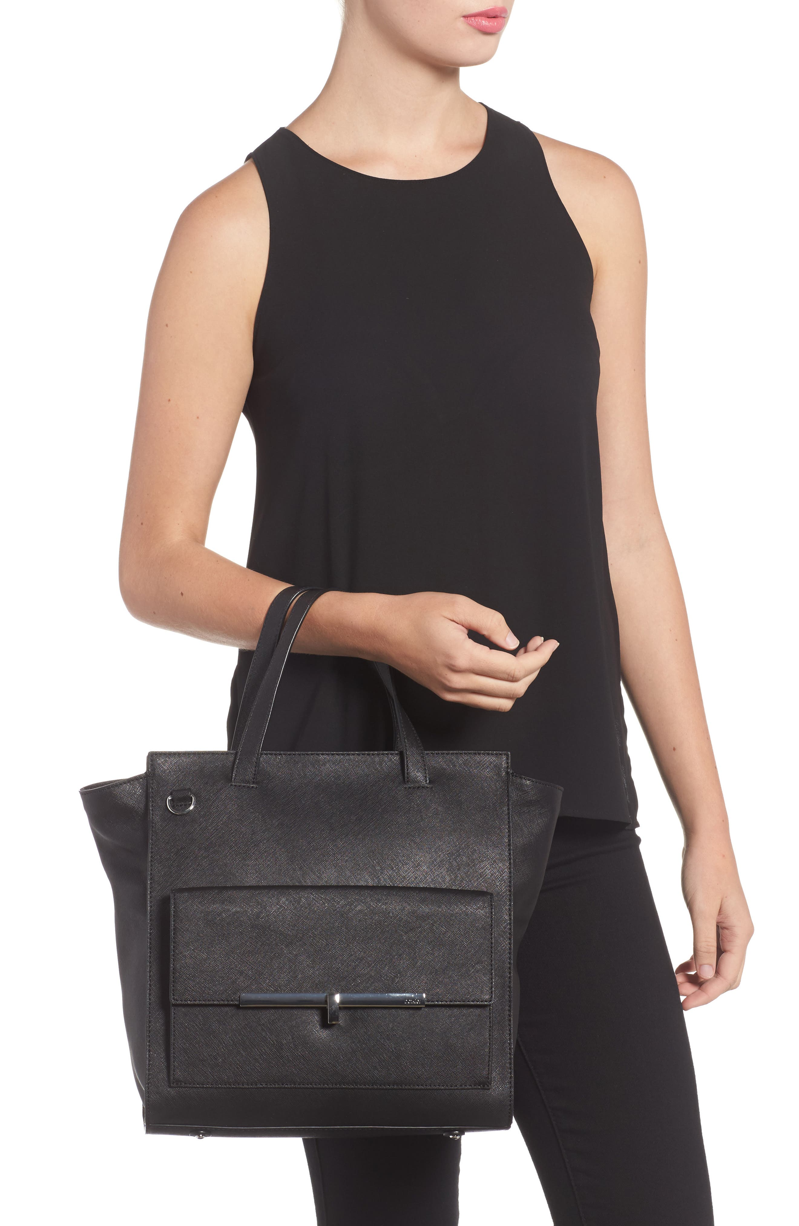 Jagger Leather Tote,                             Alternate thumbnail 2, color,                             001