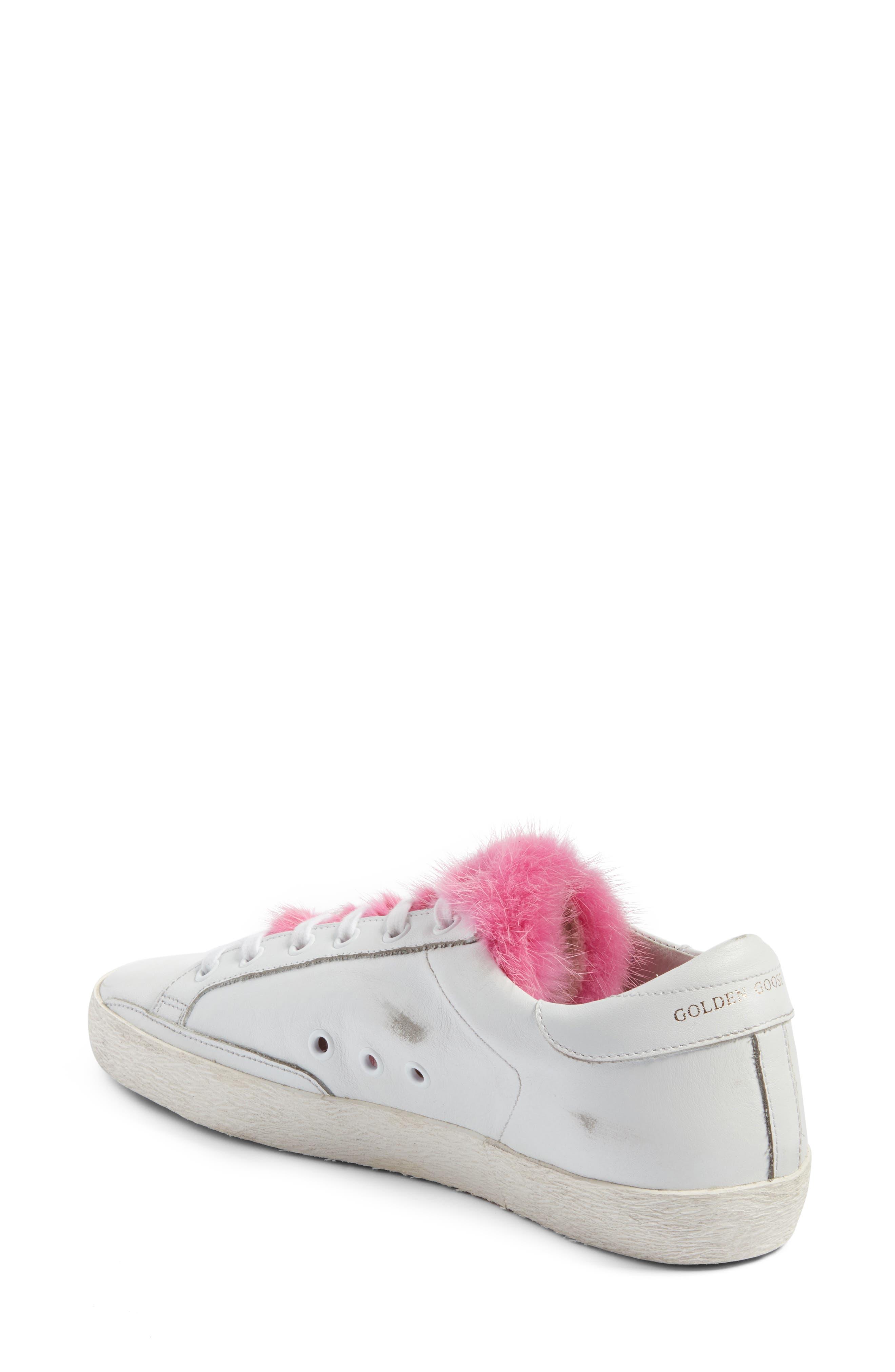 Superstar Genuine Mink Fur Sneaker,                             Alternate thumbnail 2, color,                             100