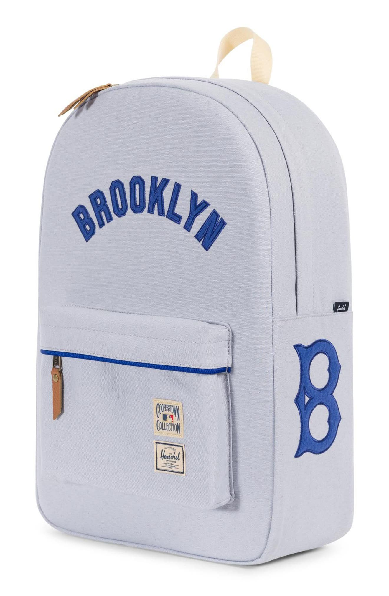 Heritage - MLB Cooperstown Collection Backpack,                             Alternate thumbnail 4, color,                             BROOKLYN DODGERS