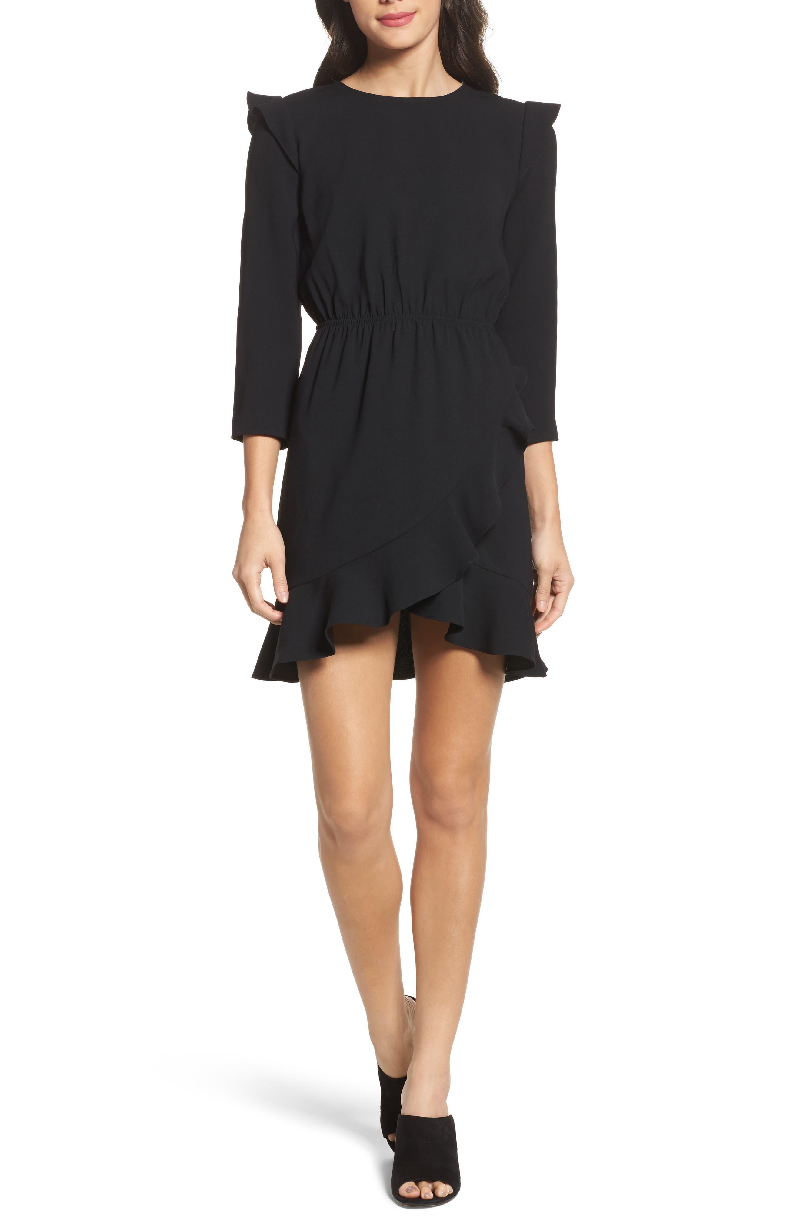 St Germain Ruffle Fit & Flare Dress,                             Main thumbnail 1, color,