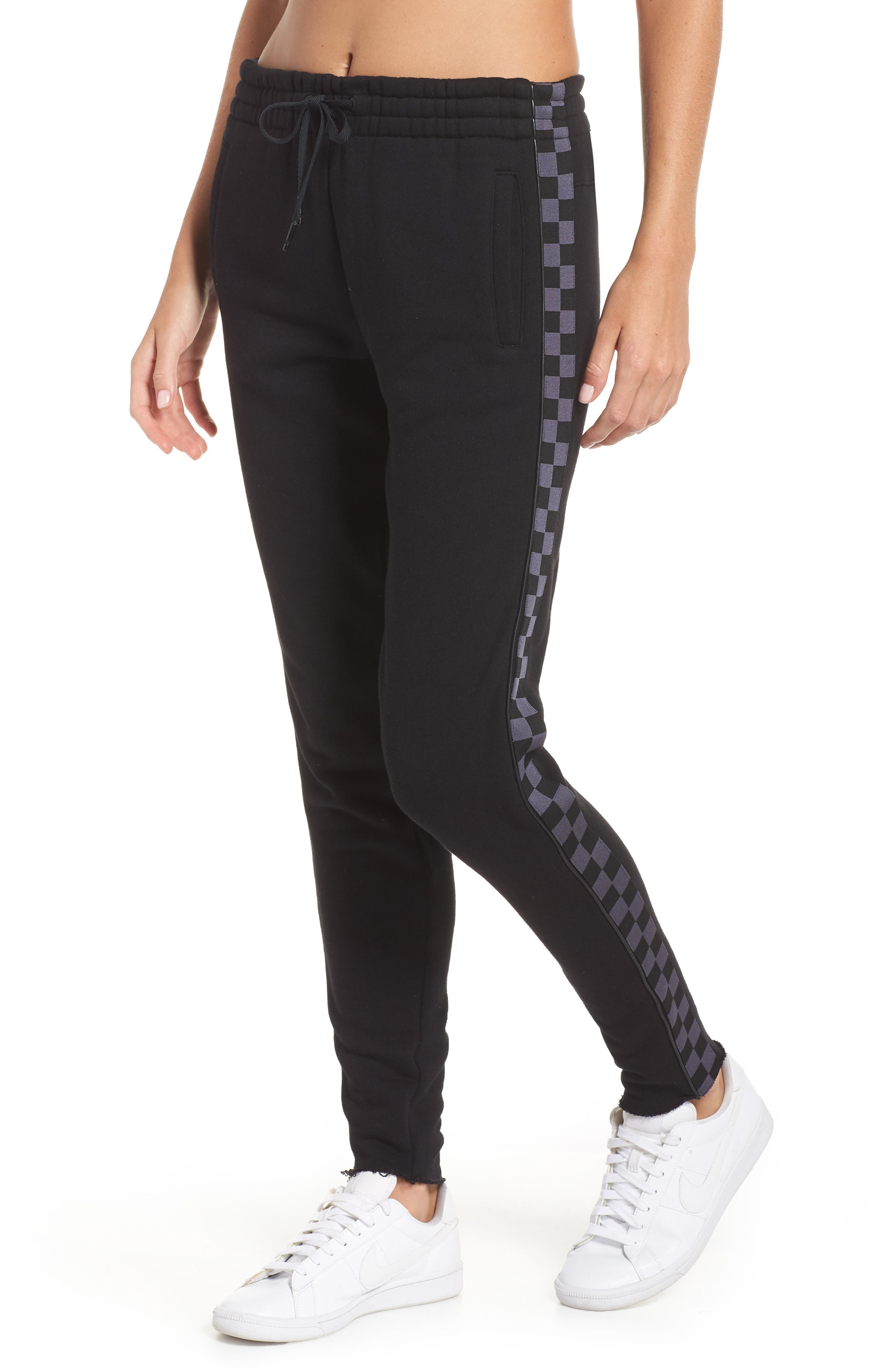 Shift Sweatpants,                         Main,                         color, BLACK/ CHECKER