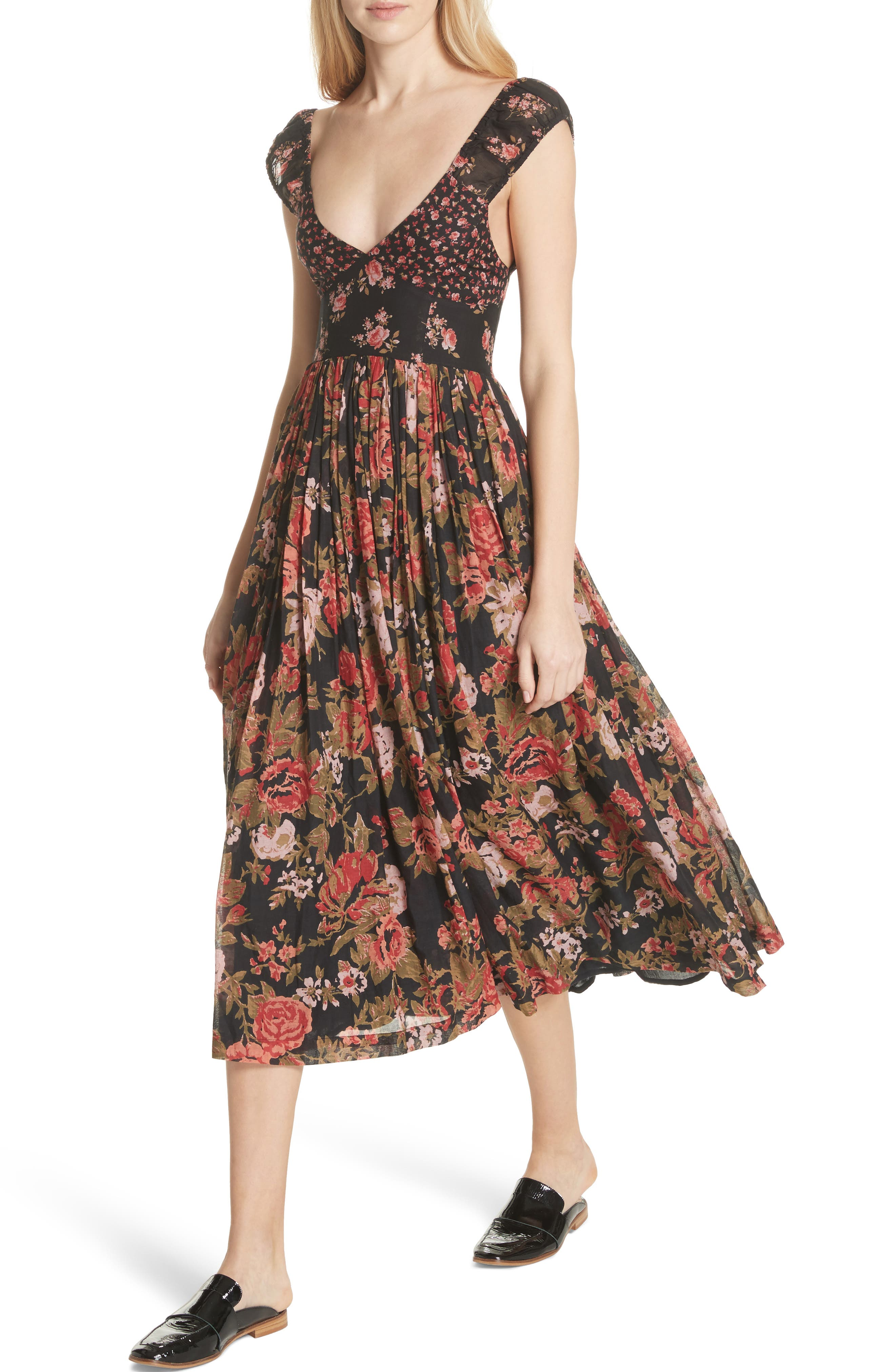 Love You Midi Dress,                             Alternate thumbnail 4, color,                             001