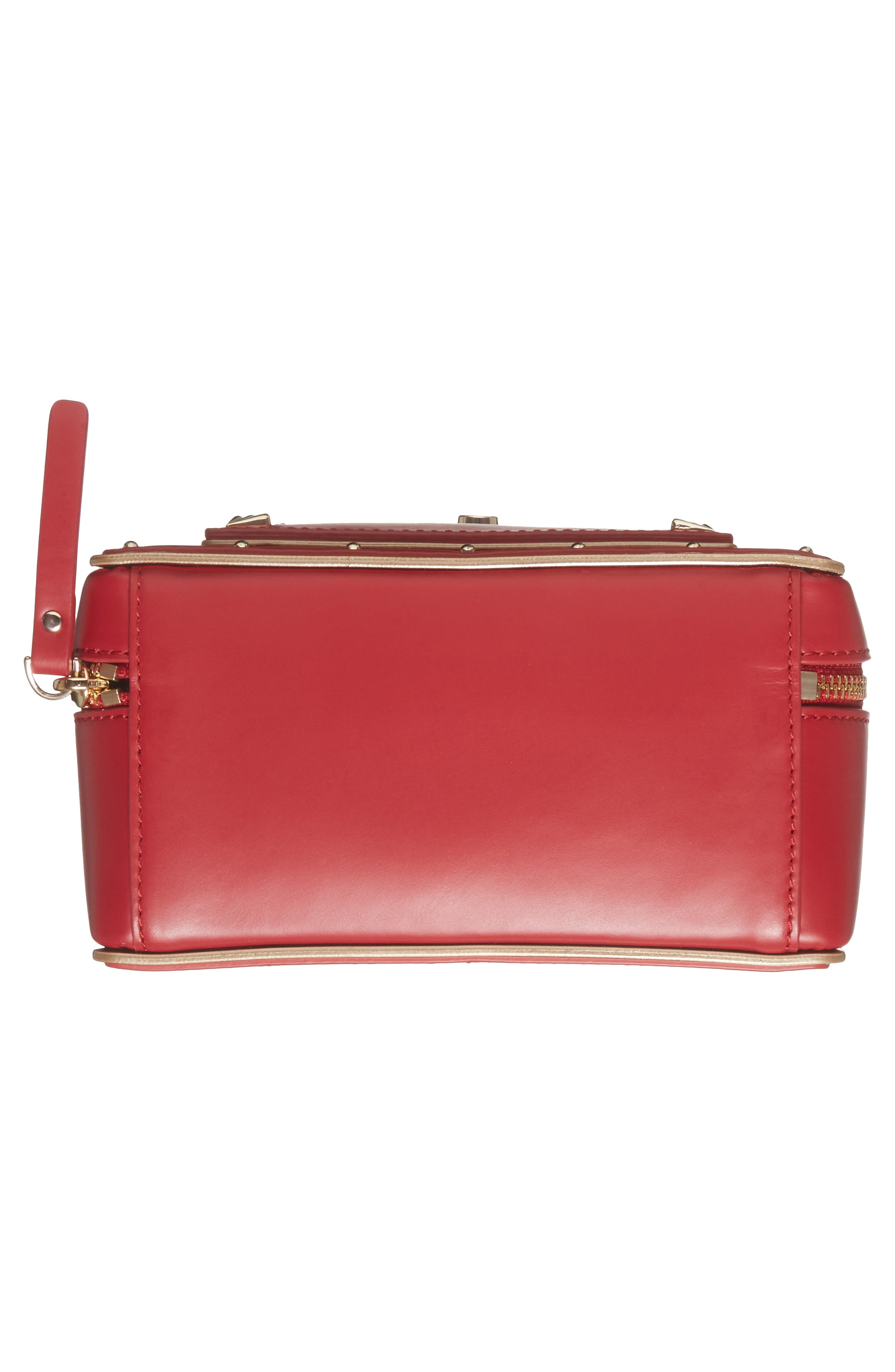 yours truly leather mailbox crossbody bag,                             Alternate thumbnail 6, color,