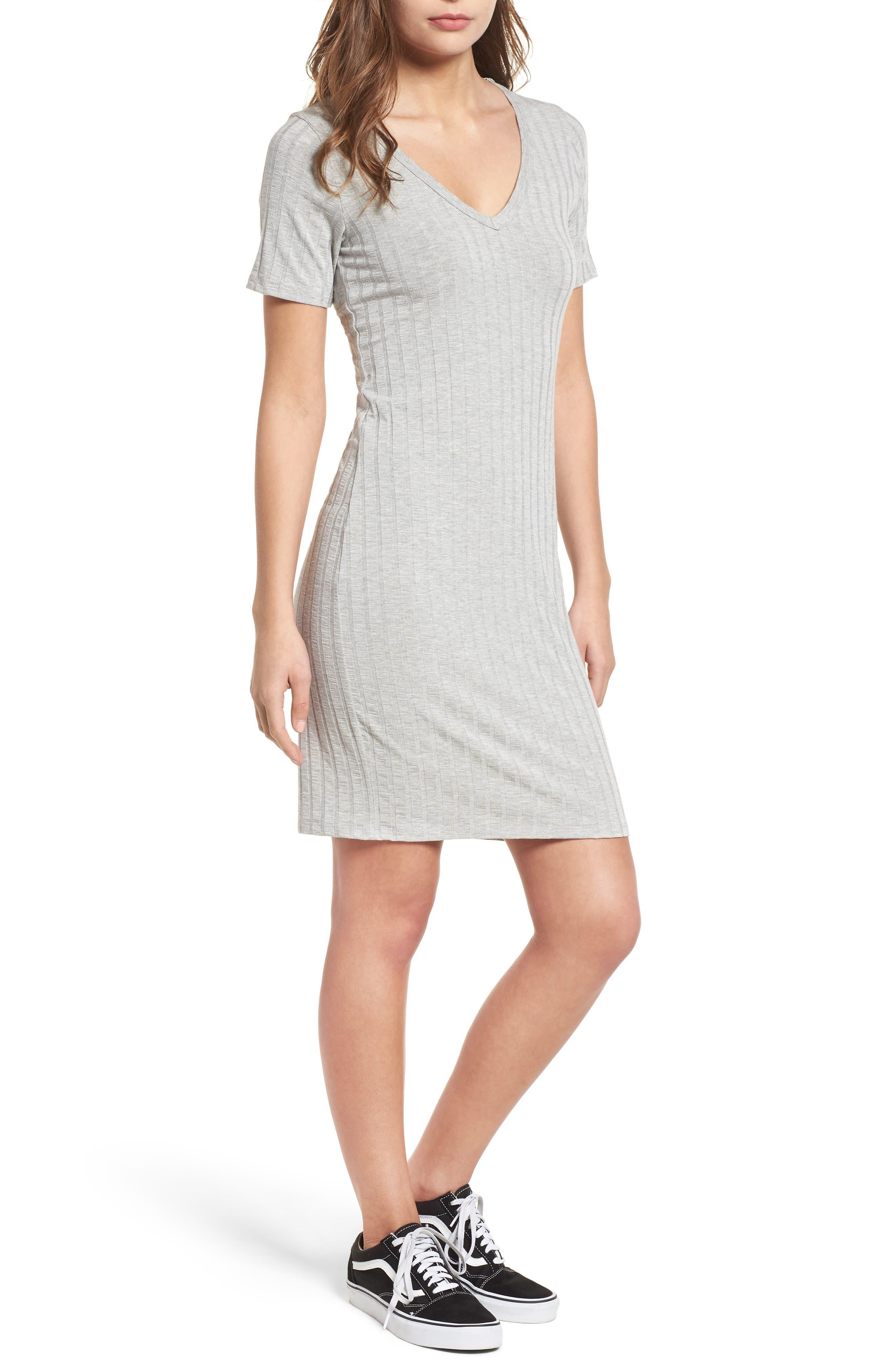 Project Social T Ribbed Body-Con Dress,                             Main thumbnail 2, color,