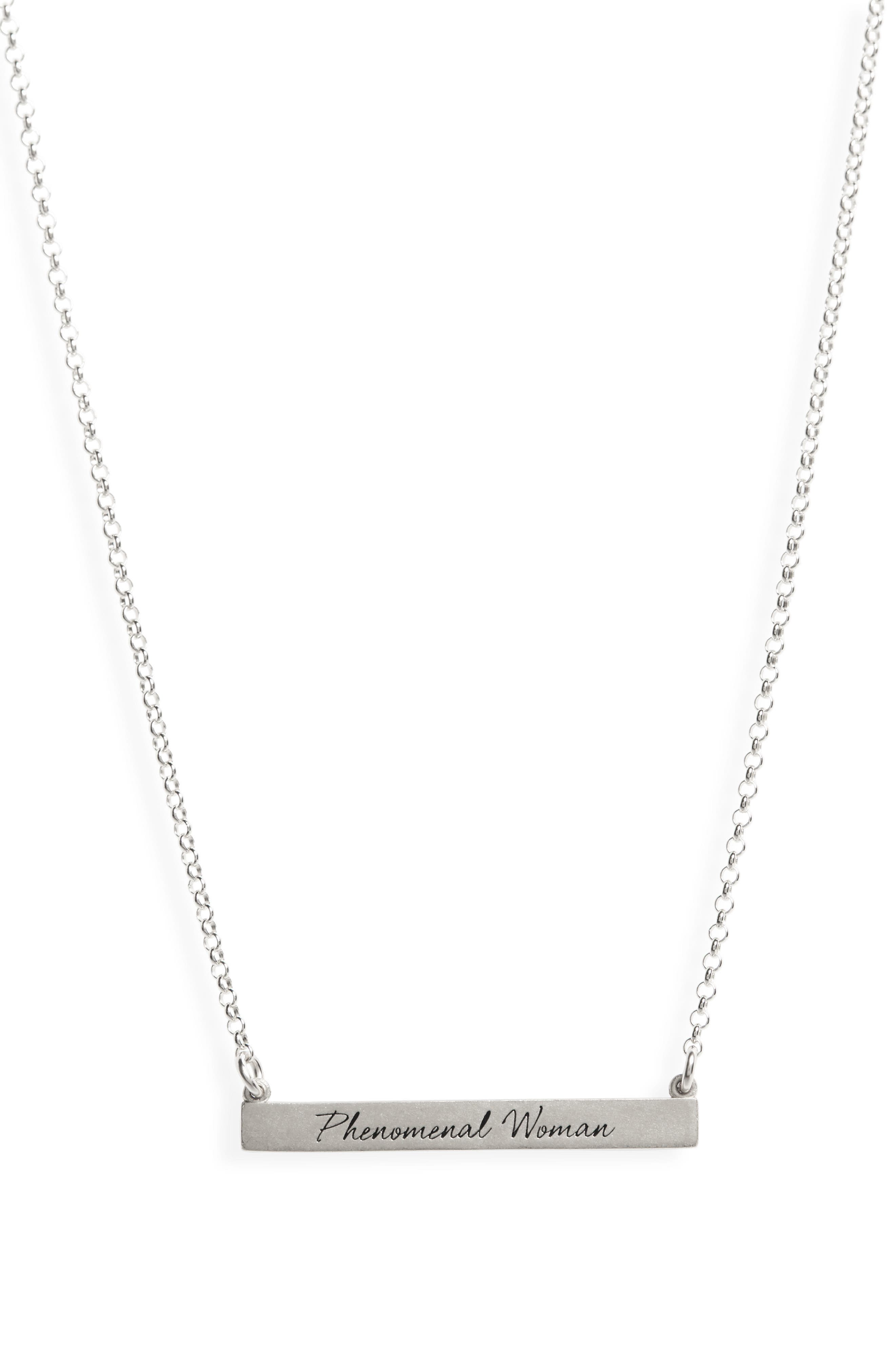 Legacy Collection - Phenomenal Women Bar Necklace,                             Alternate thumbnail 3, color,                             040