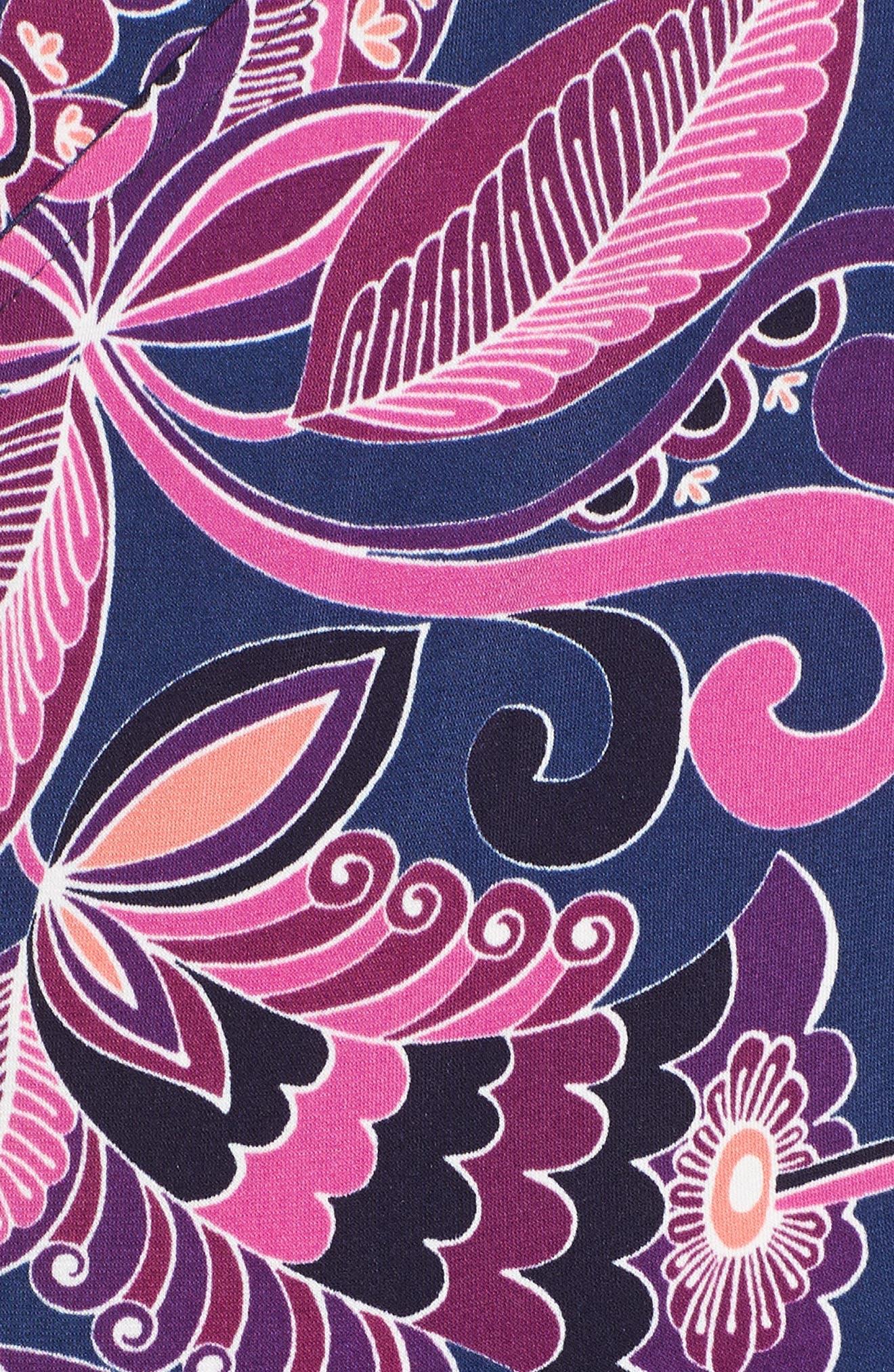 Payton Print Jersey Dress,                             Alternate thumbnail 6, color,                             MULTI