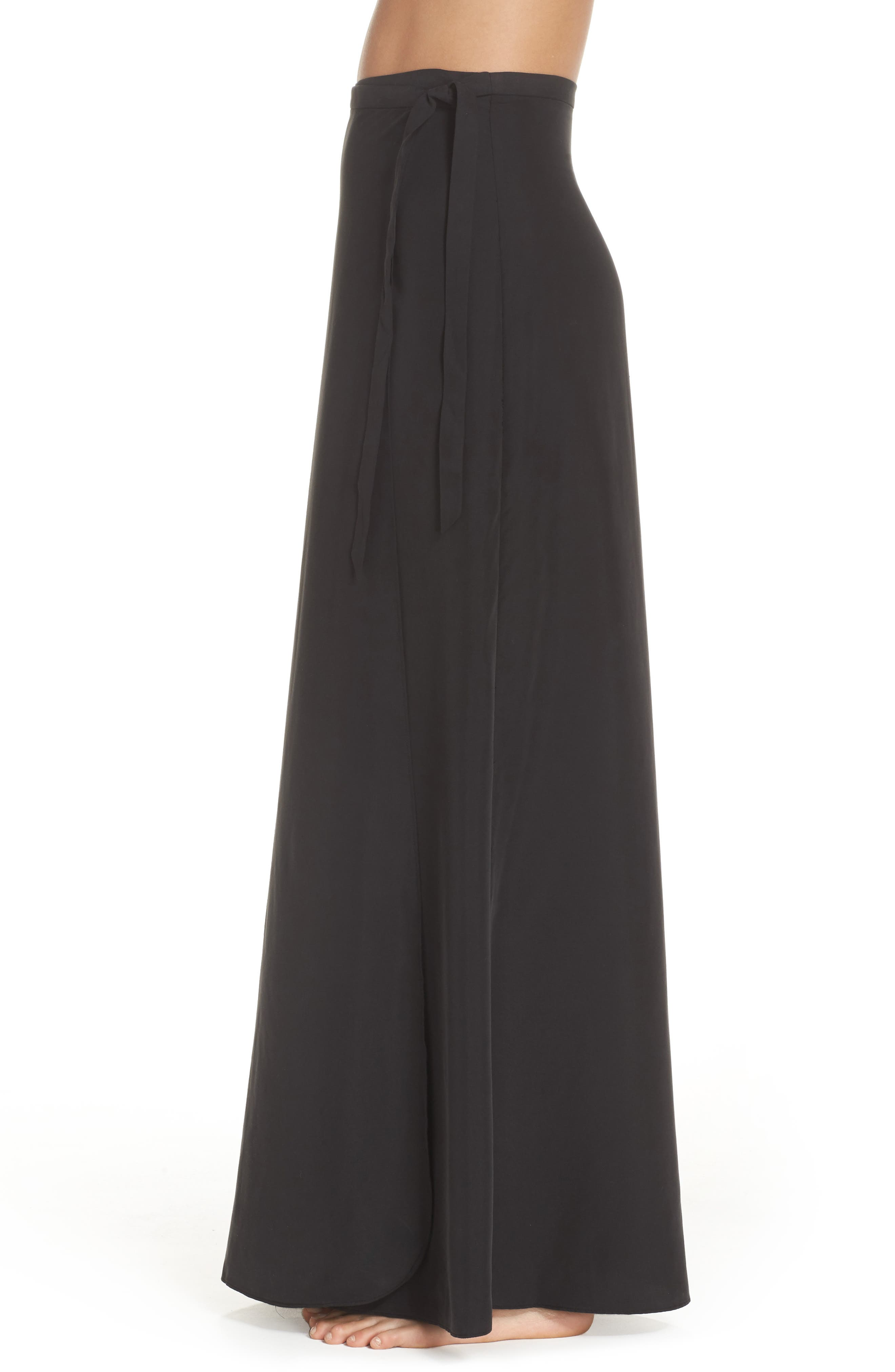 Lasting Impressions Cover-Up Maxi Skirt,                             Alternate thumbnail 3, color,                             001