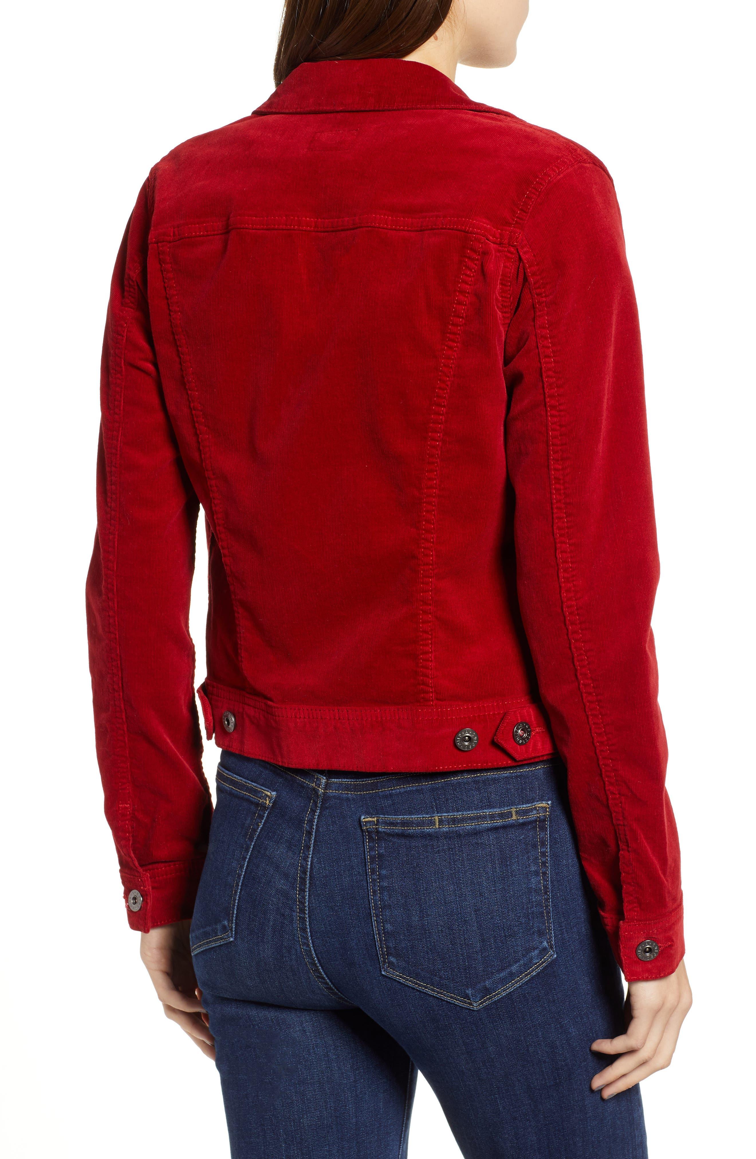 Robyn Corduroy Jacket,                             Alternate thumbnail 2, color,                             RED AMARYLLIS