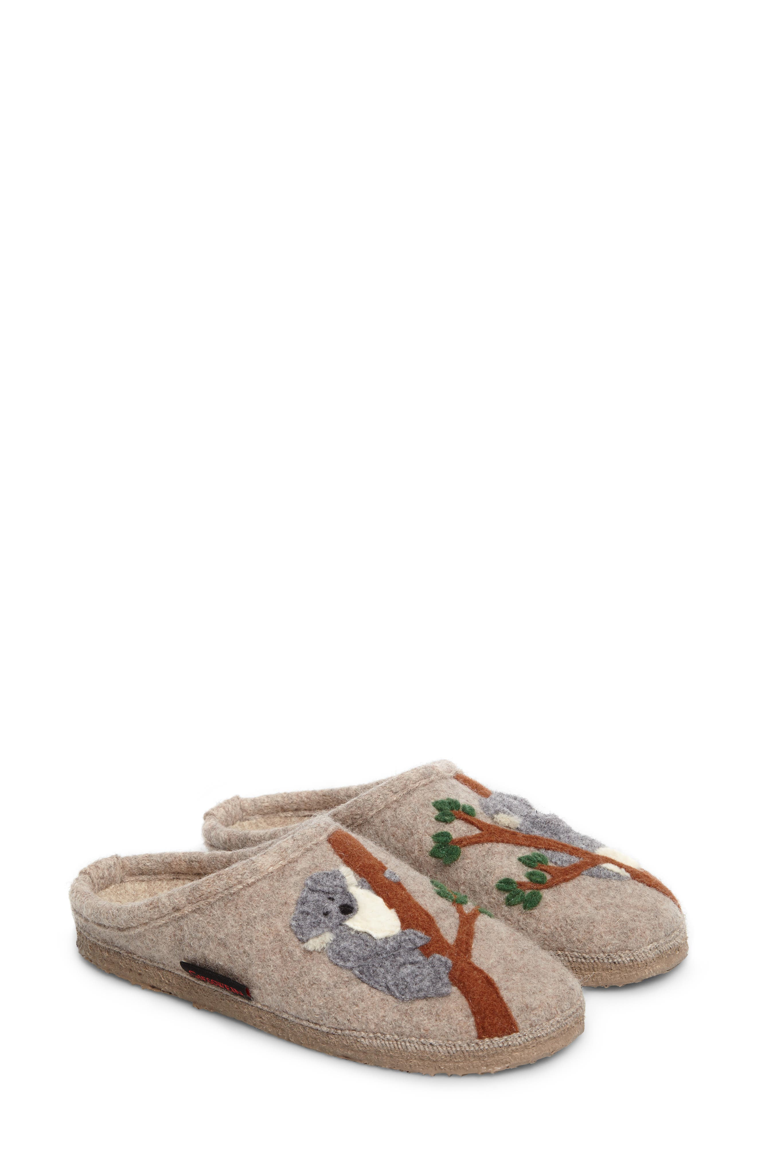 Koala Indoor Boiled Wool Slipper,                             Main thumbnail 1, color,                             NATURAL WOOL