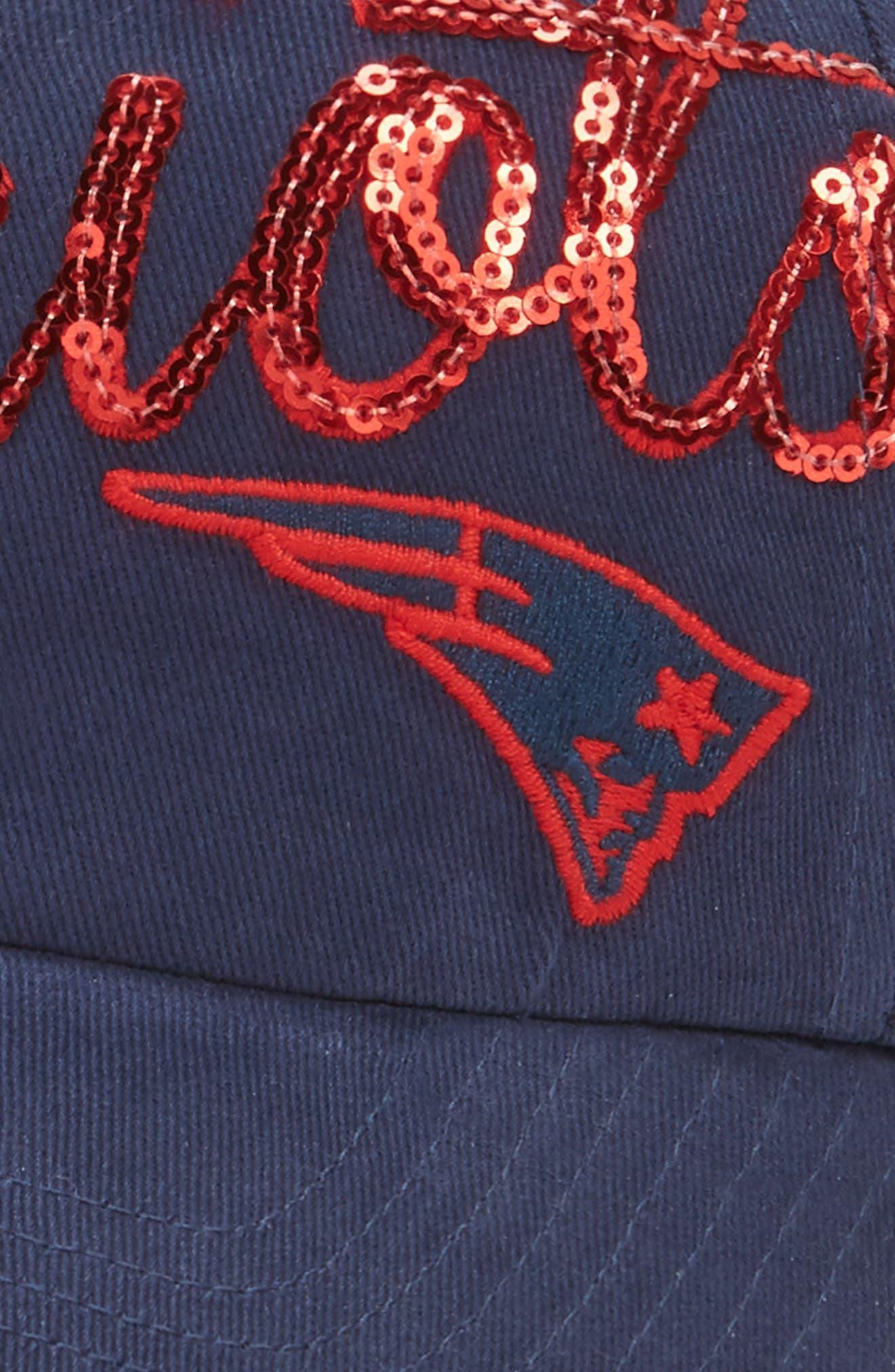 New England Patriots Sparkle Cap,                             Alternate thumbnail 3, color,                             410