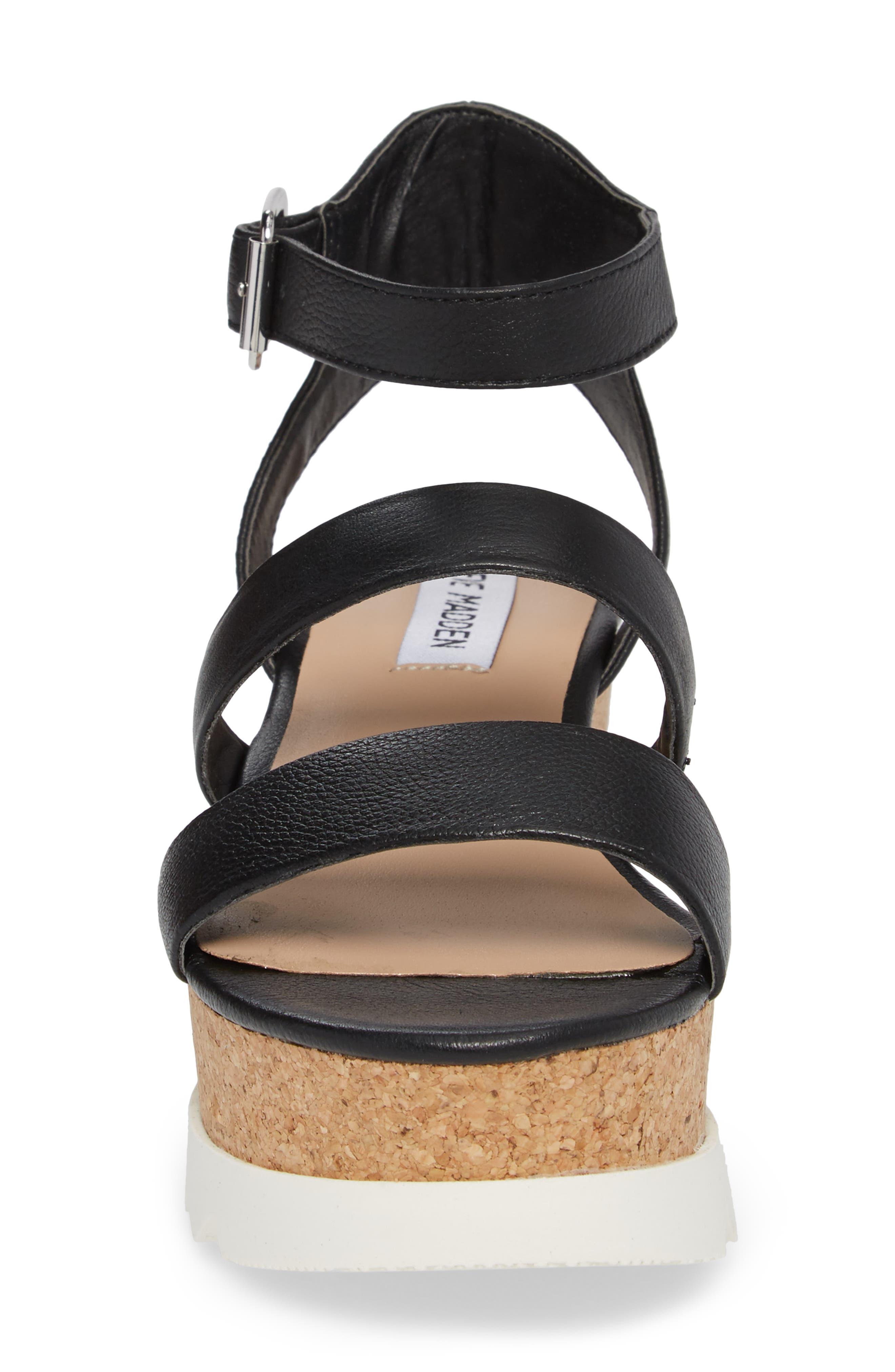Kirsten Layered Platform Sandal,                             Alternate thumbnail 4, color,                             001