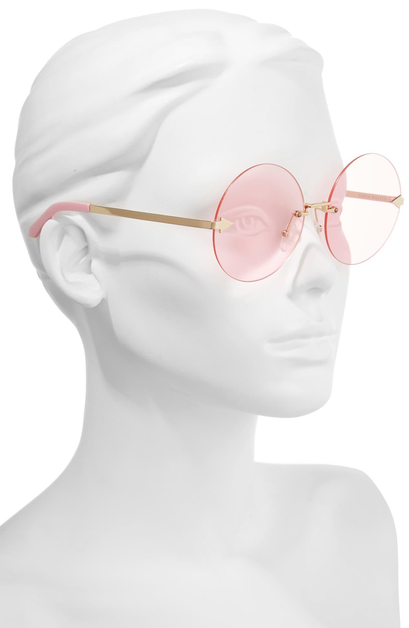 Disco Circus 60mm Rimless Round Sunglasses,                             Alternate thumbnail 7, color,