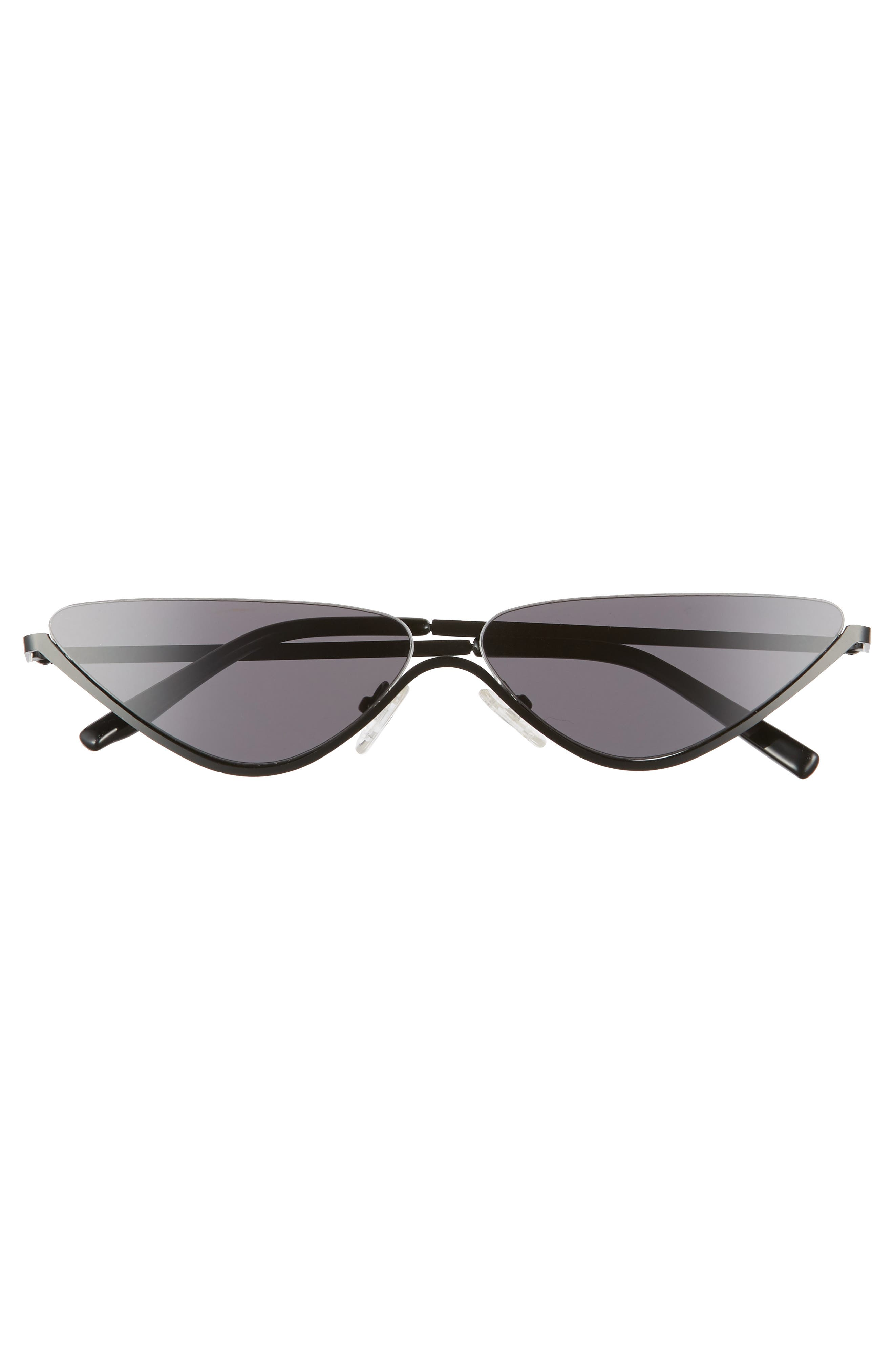 62mm Half Rim Cat Eye Sunglasses,                             Alternate thumbnail 3, color,                             001