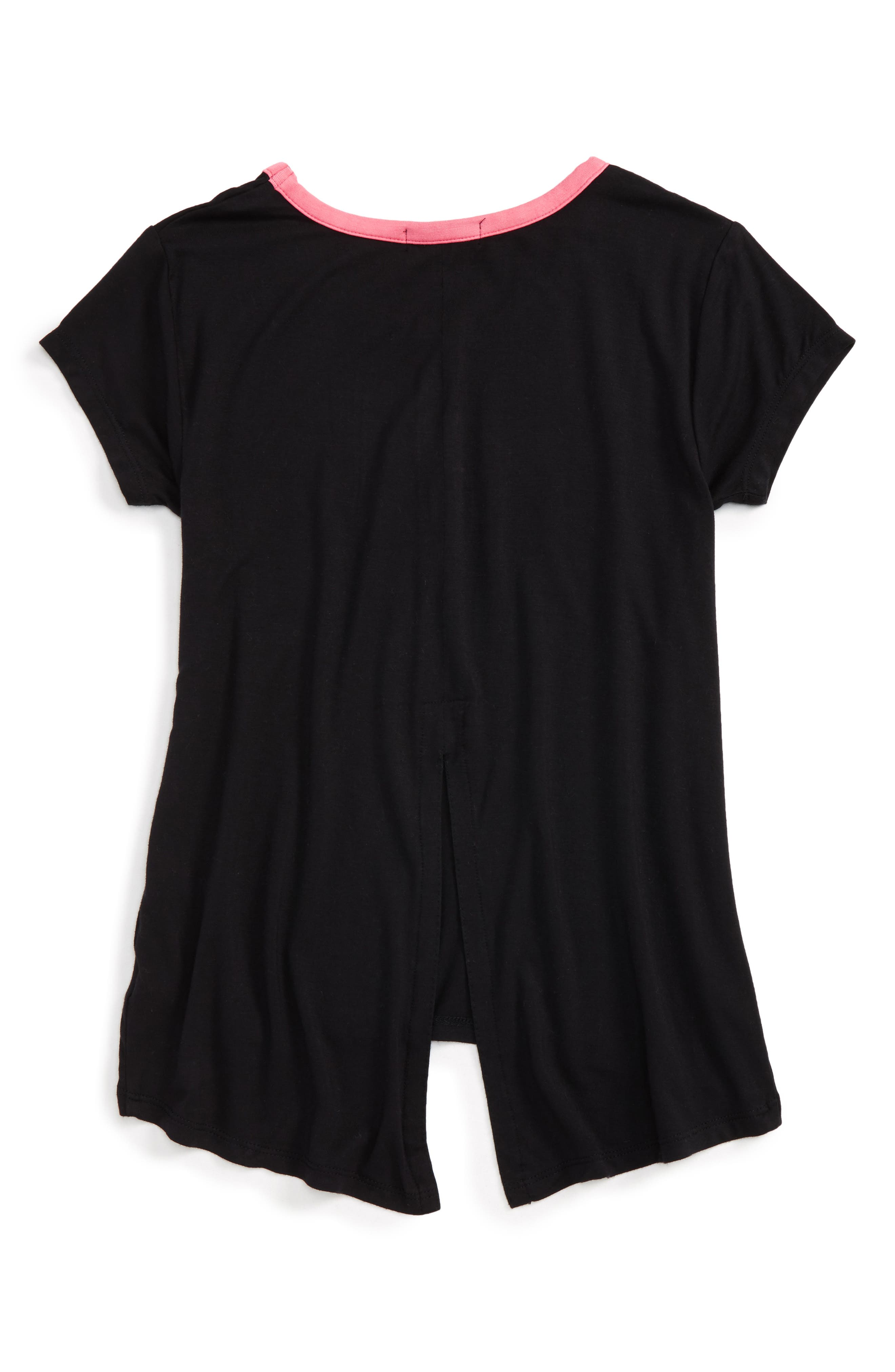 'Living' Graphic Envelope Back Tee,                             Alternate thumbnail 16, color,