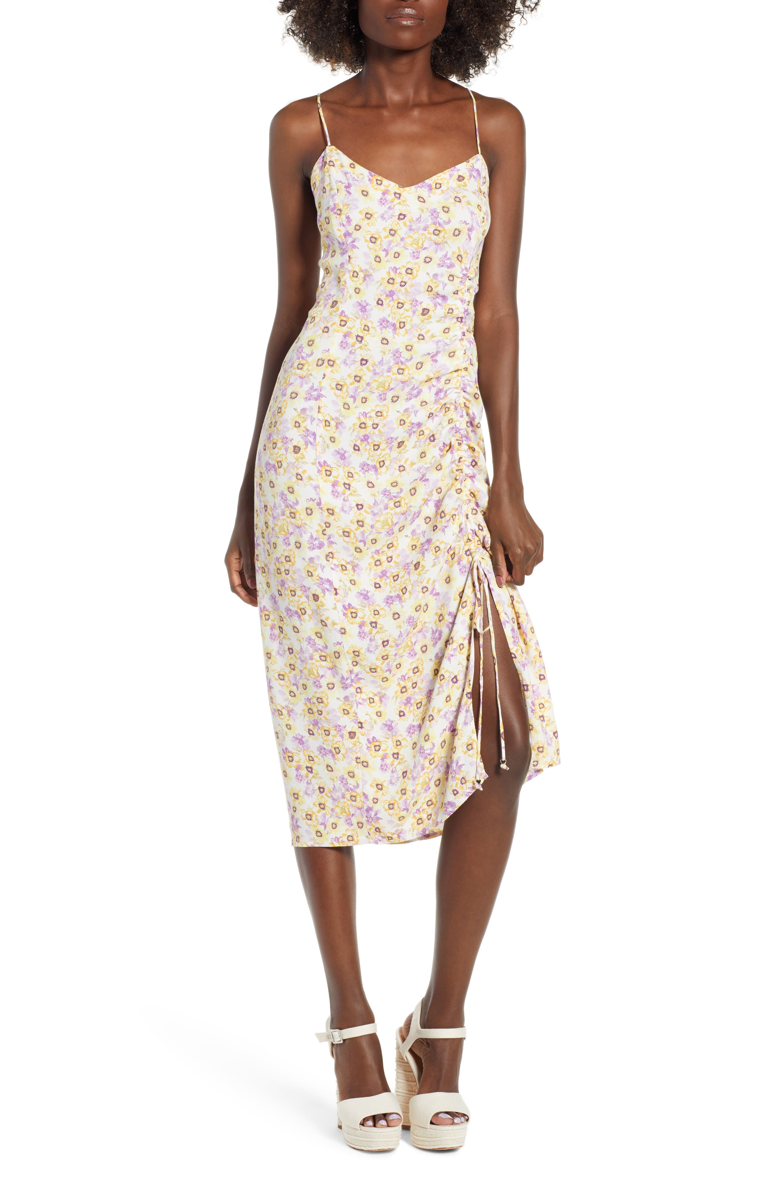 Favor Ruched Midi Dress,                             Main thumbnail 2, color,
