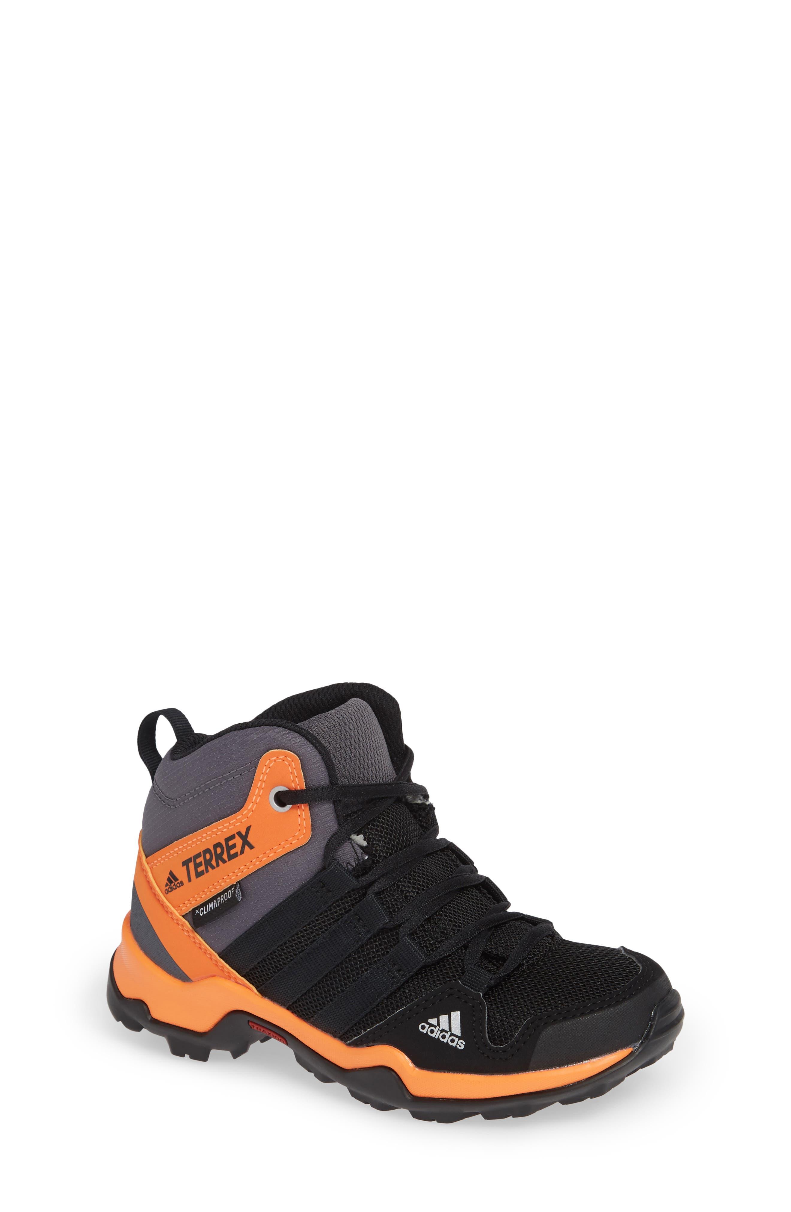 Terrex AX2R Mid Sneaker,                         Main,                         color, BLACK/ BLACK/ HI-RES ORANGE