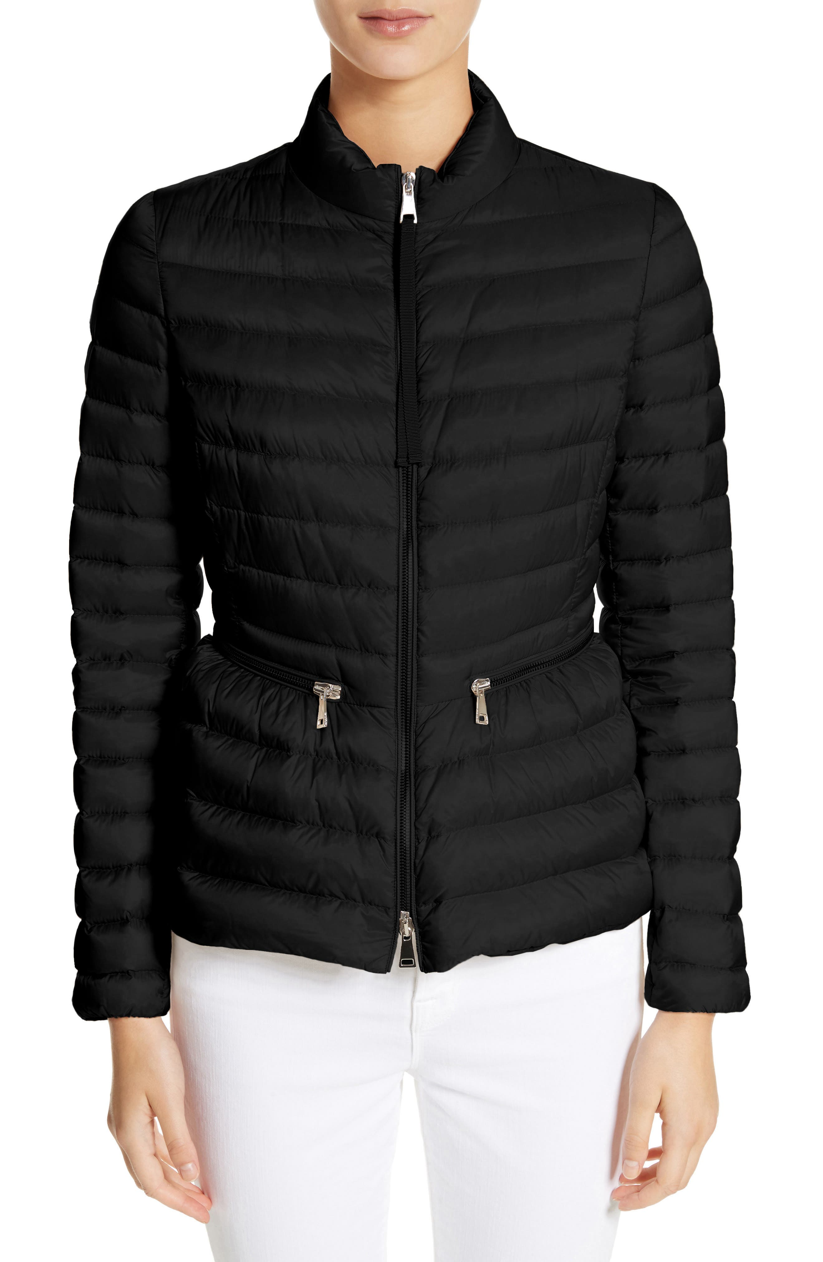 MONCLER,                             Agate Quilted Puffer Jacket,                             Main thumbnail 1, color,                             001