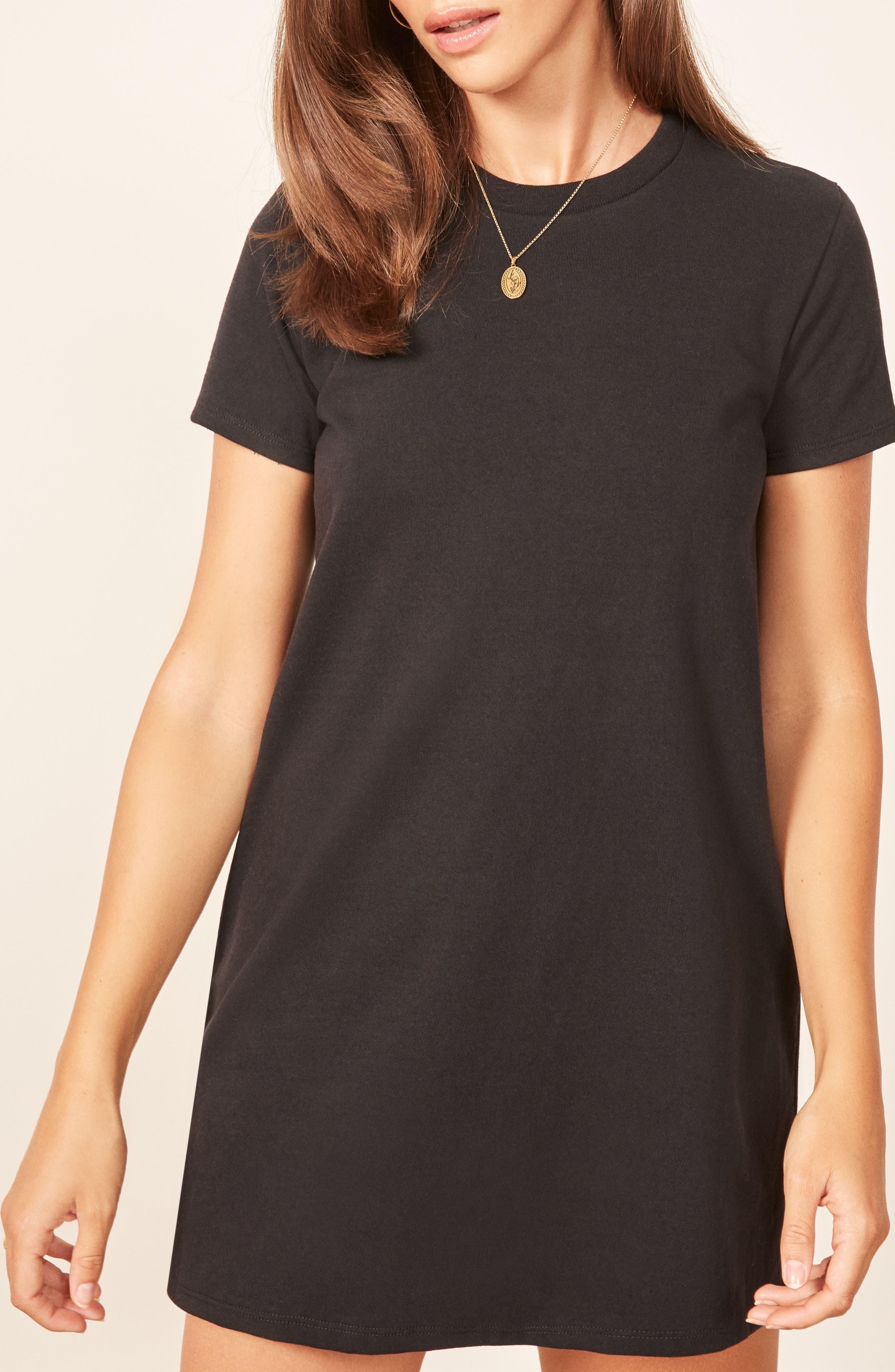 Damien T-Shirt Dress,                             Alternate thumbnail 4, color,                             001